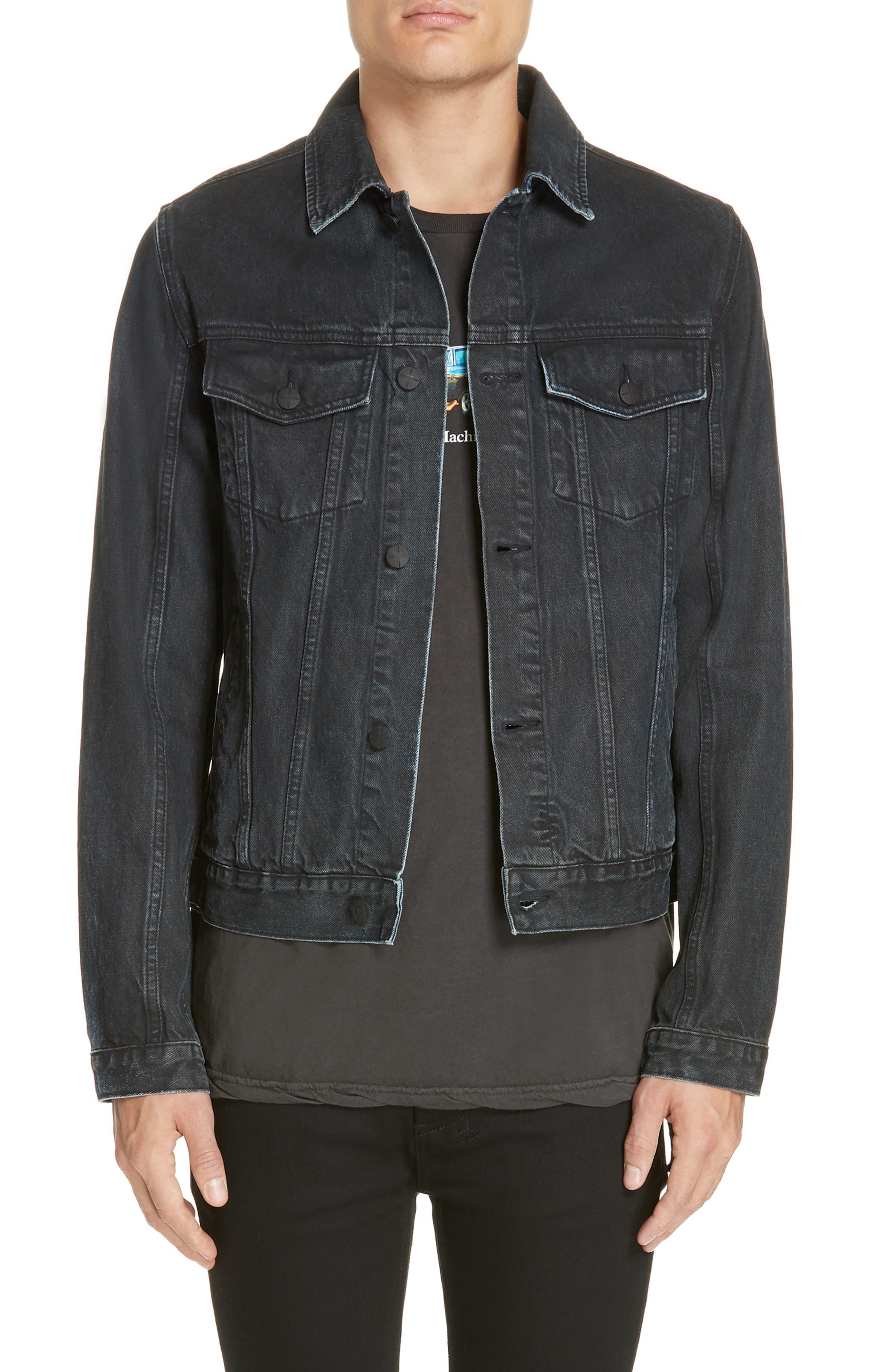 KSUBI Classic Denim Jacket, Main, color, BLACK TOP