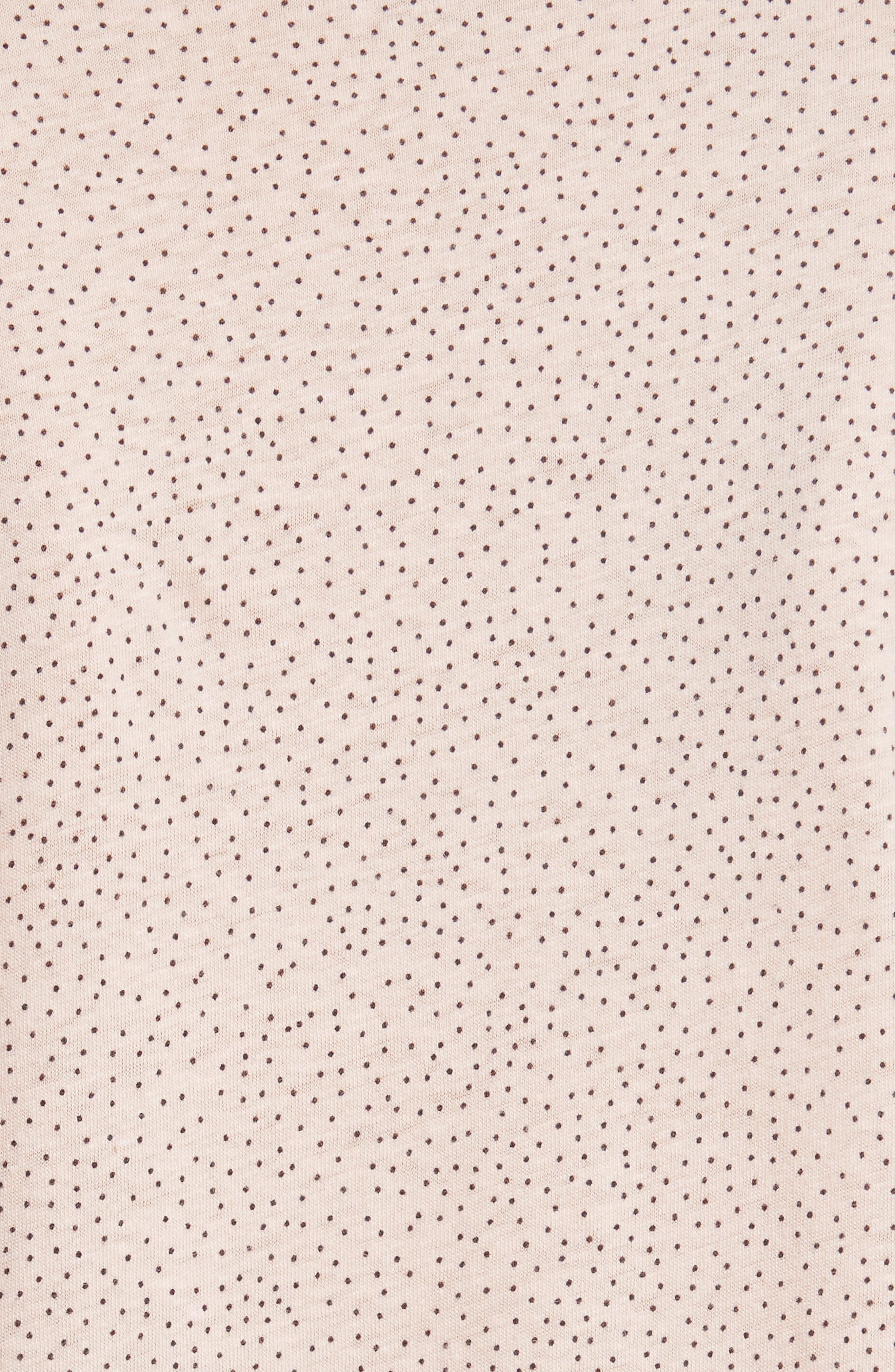 Cherie Dot Flutter Sleeve Top,                             Alternate thumbnail 5, color,                             694