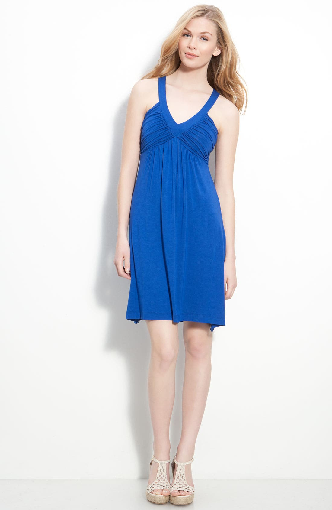 Ruched Bodice Jersey Dress,                             Alternate thumbnail 5, color,