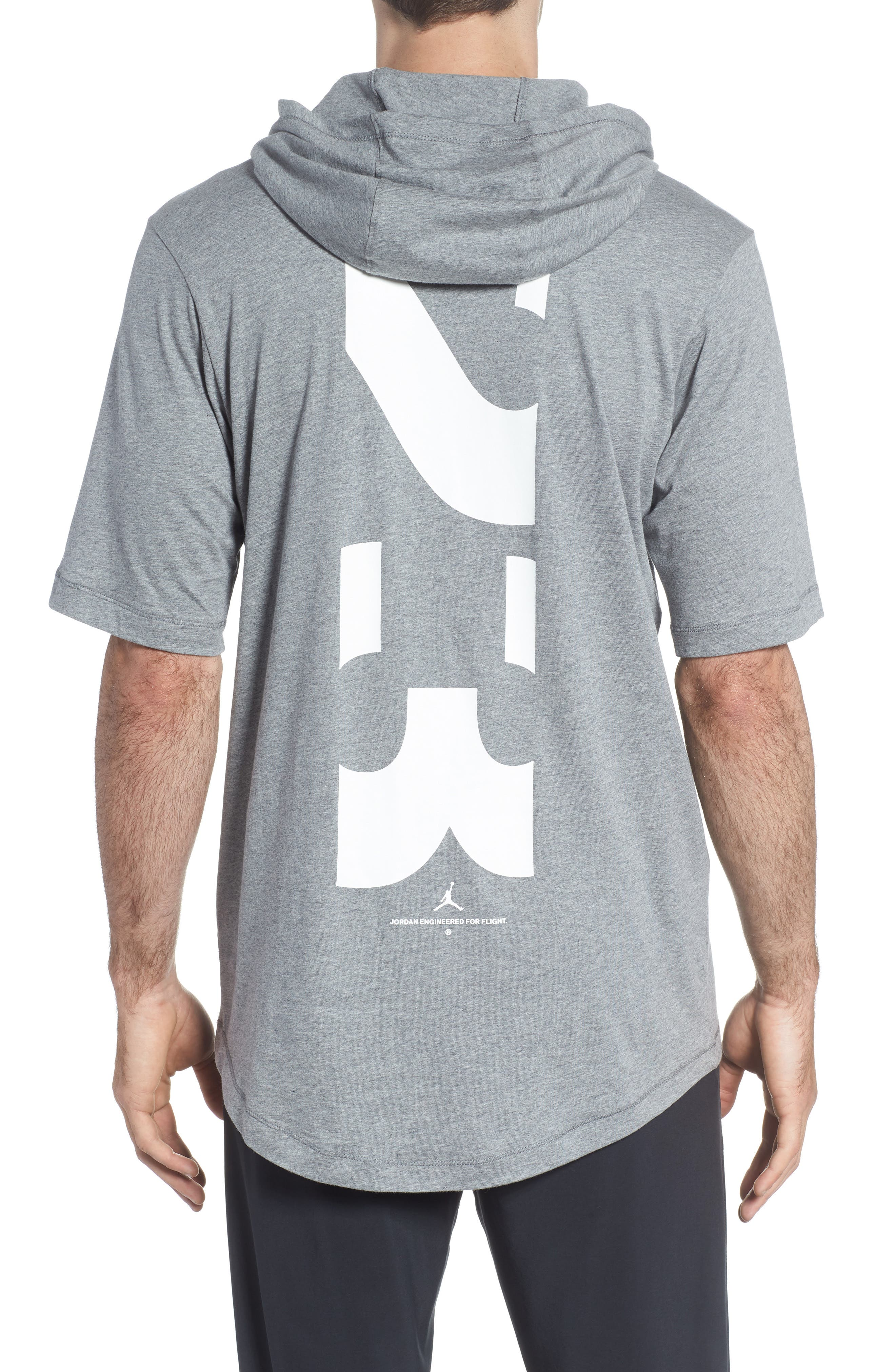 Sportswear 23 Hooded T-Shirt,                             Alternate thumbnail 2, color,                             CARBON HEATHER/ WHITE
