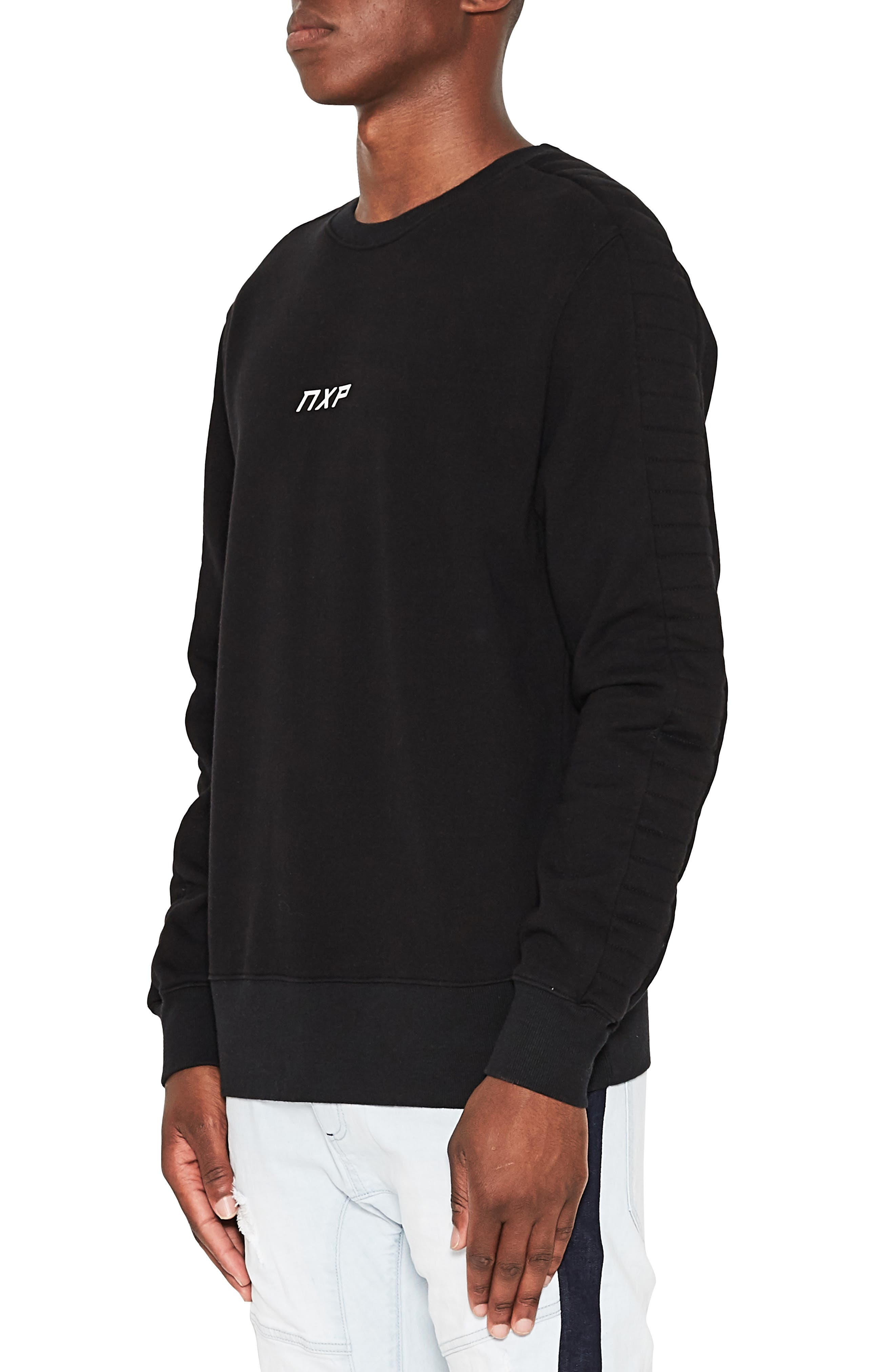 Unleashed Fleece Sweatshirt,                             Alternate thumbnail 3, color,                             JET BLACK