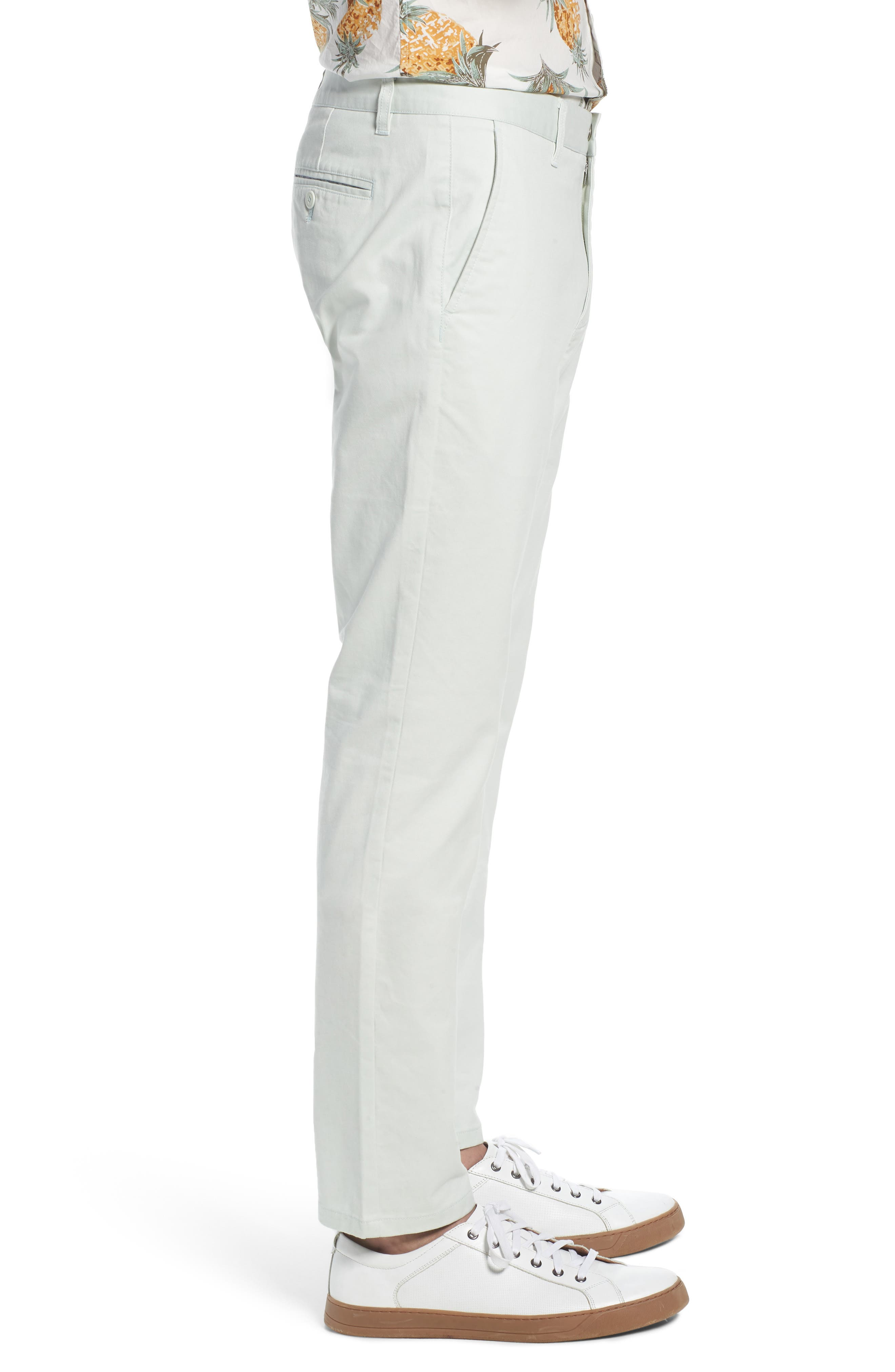Tailored Fit Washed Stretch Cotton Chinos,                             Alternate thumbnail 91, color,