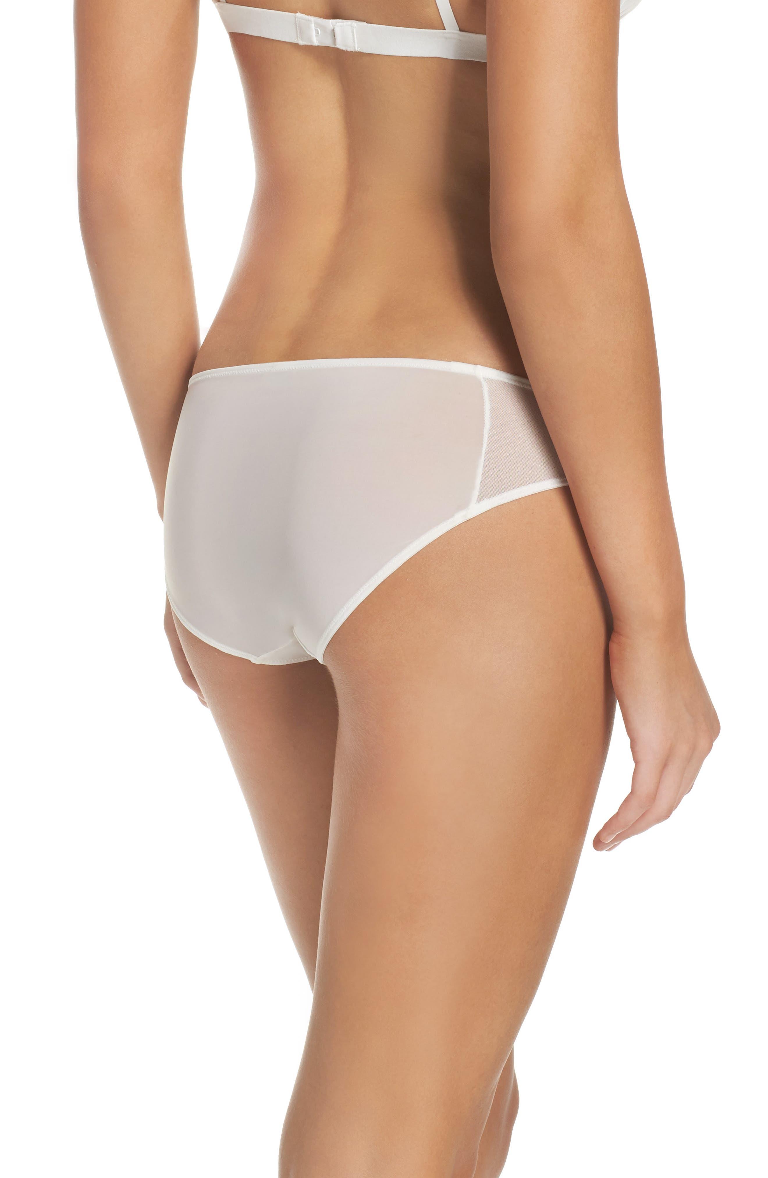 Mesh Trim Bikini,                             Alternate thumbnail 2, color,                             WHITE WASH