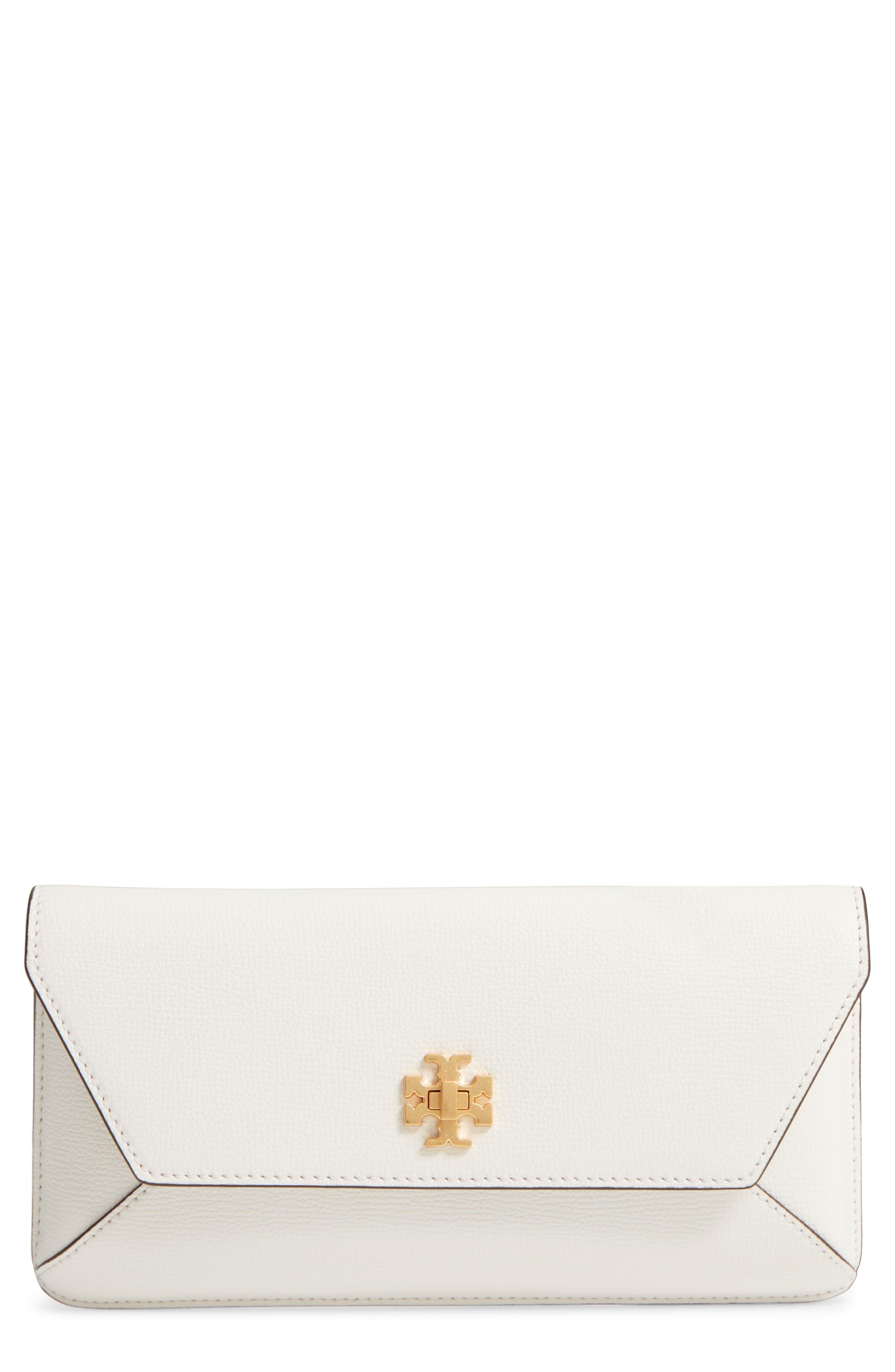 Kira Leather Envelope Clutch,                         Main,                         color, BIRCH