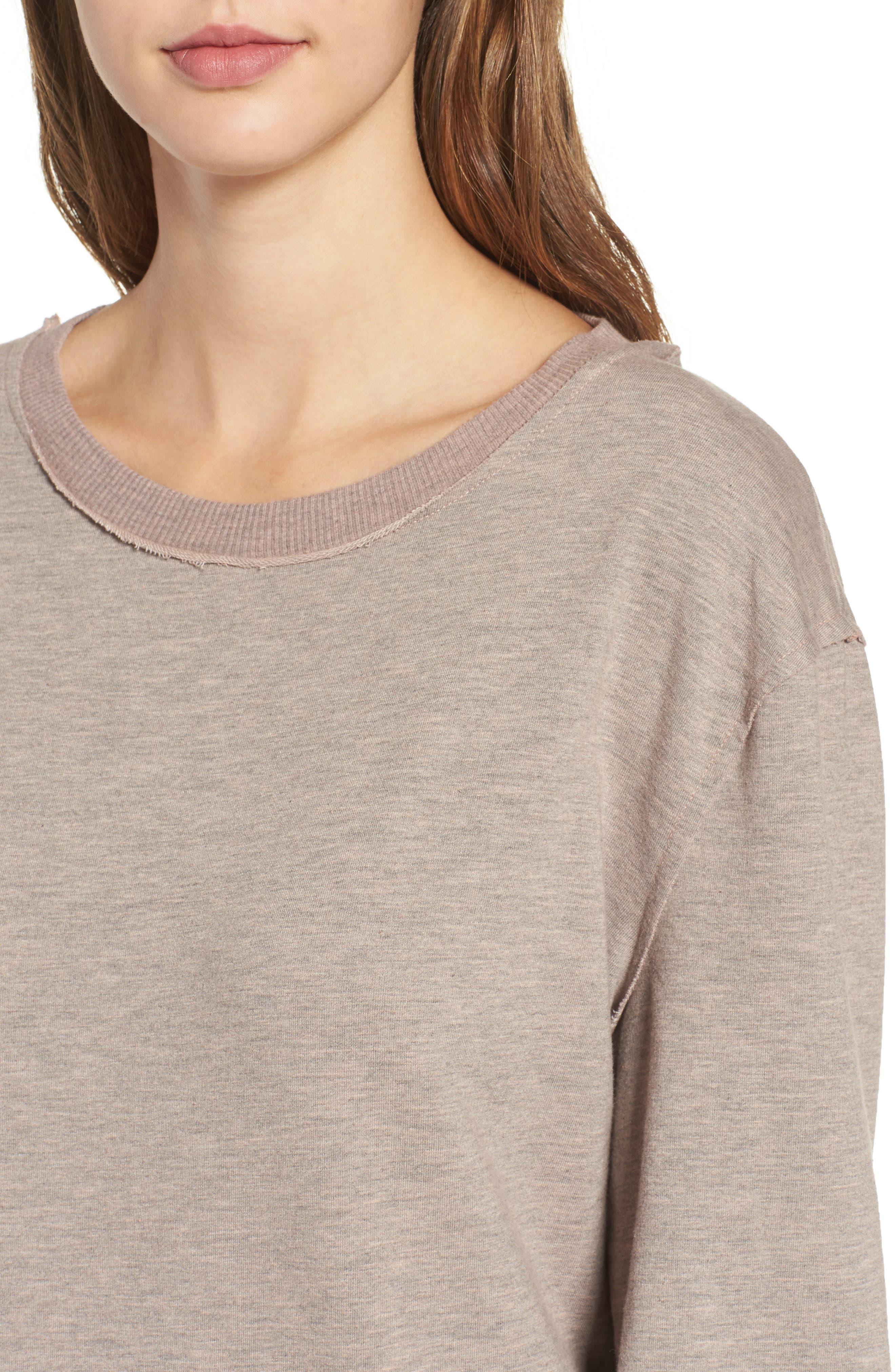 Low Back Sweatshirt Dress,                             Alternate thumbnail 4, color,                             650