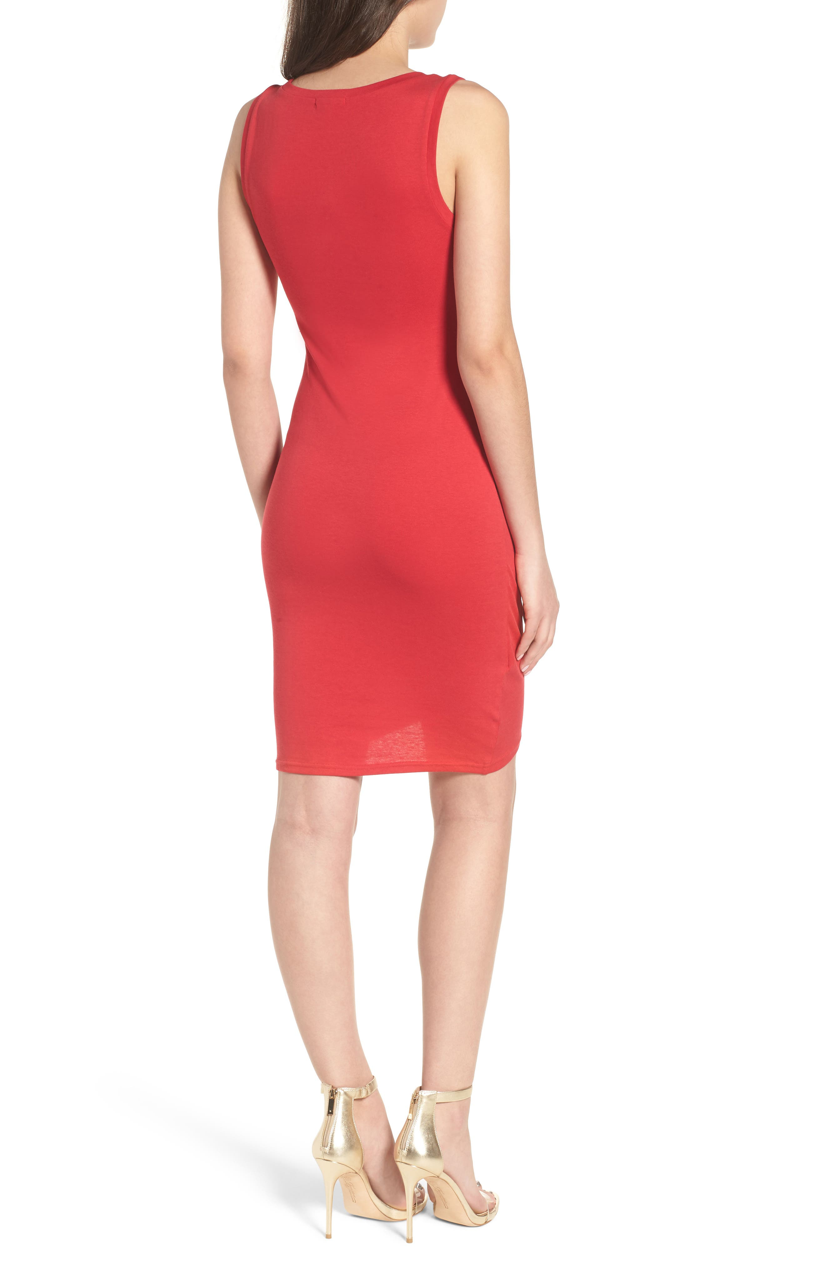Ruched Body-Con Tank Dress,                             Alternate thumbnail 49, color,