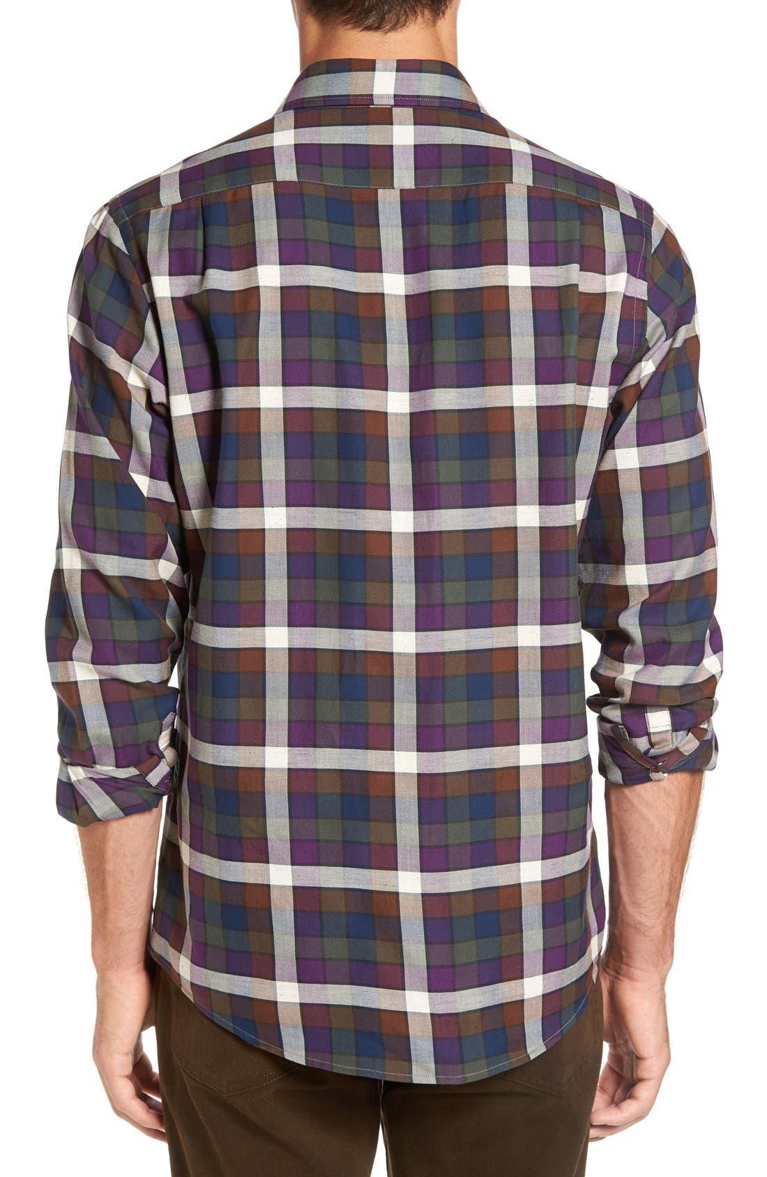 'Allister' Sports Fit Plaid Flannel Sport Shirt,                             Alternate thumbnail 3, color,                             503