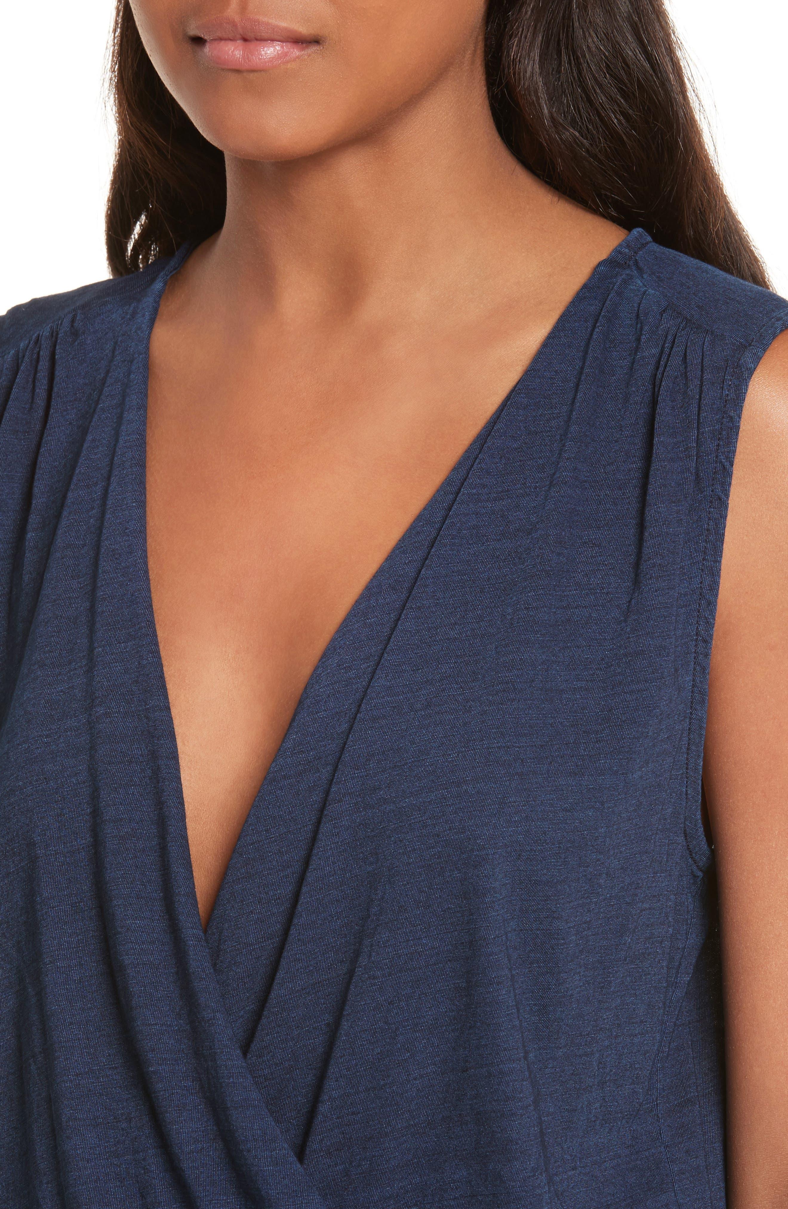 Faylen Blouson Knit Dress,                             Alternate thumbnail 4, color,                             487