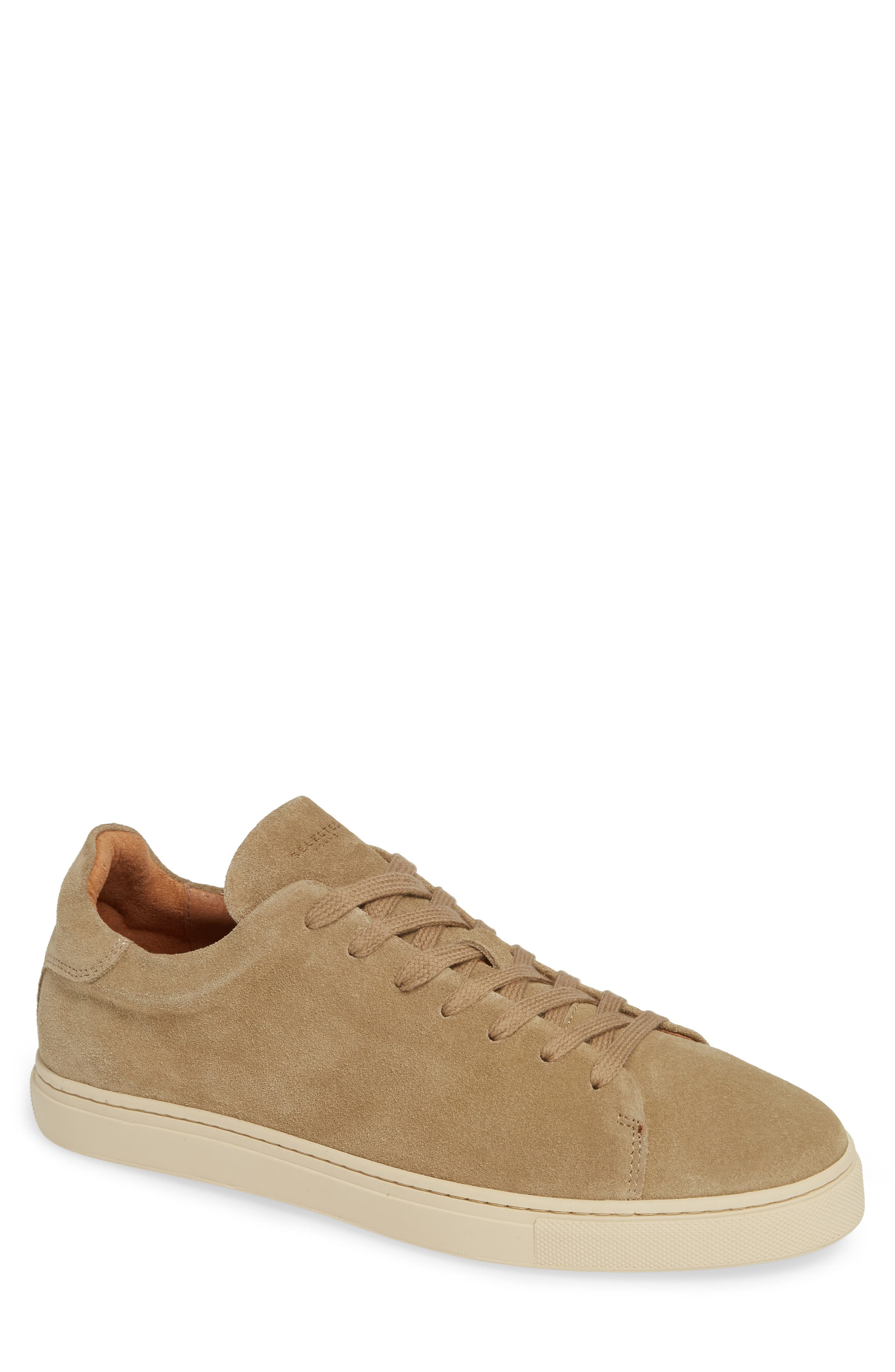 Selected Home David Low Top Sneaker,                             Main thumbnail 1, color,                             SAND SUEDE