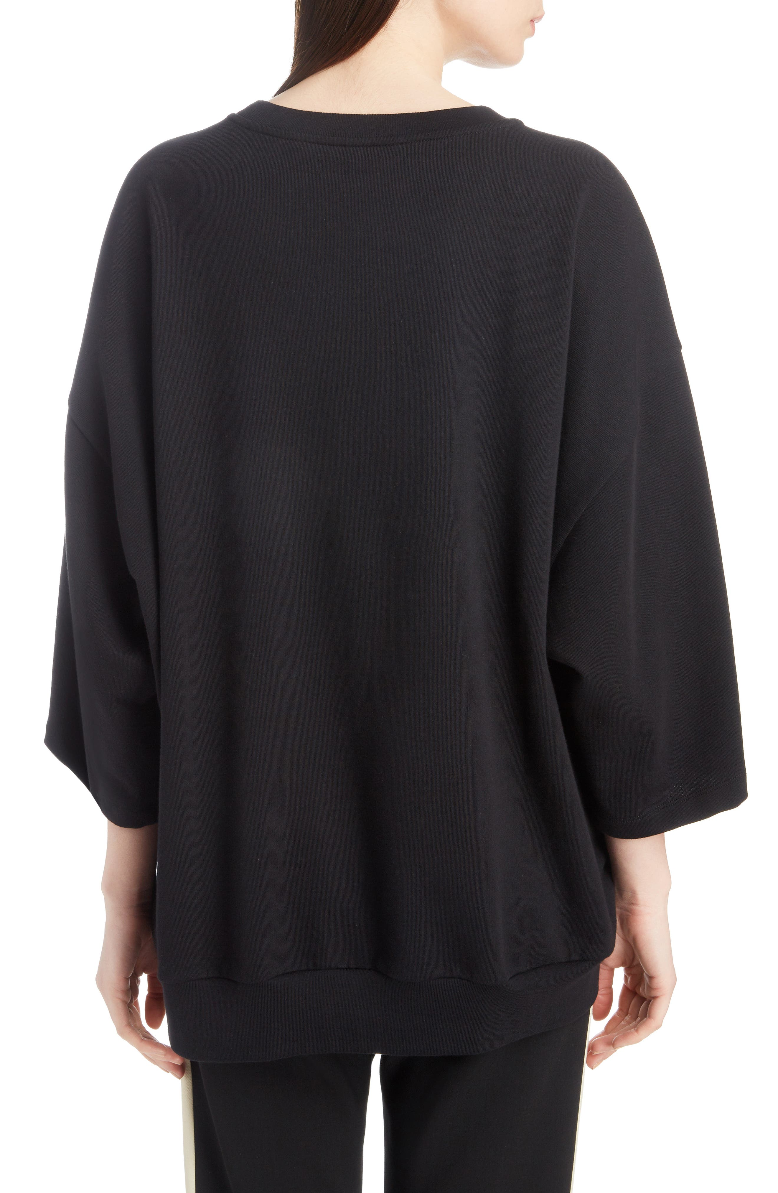 Embroidered Top,                             Alternate thumbnail 2, color,                             BLACK