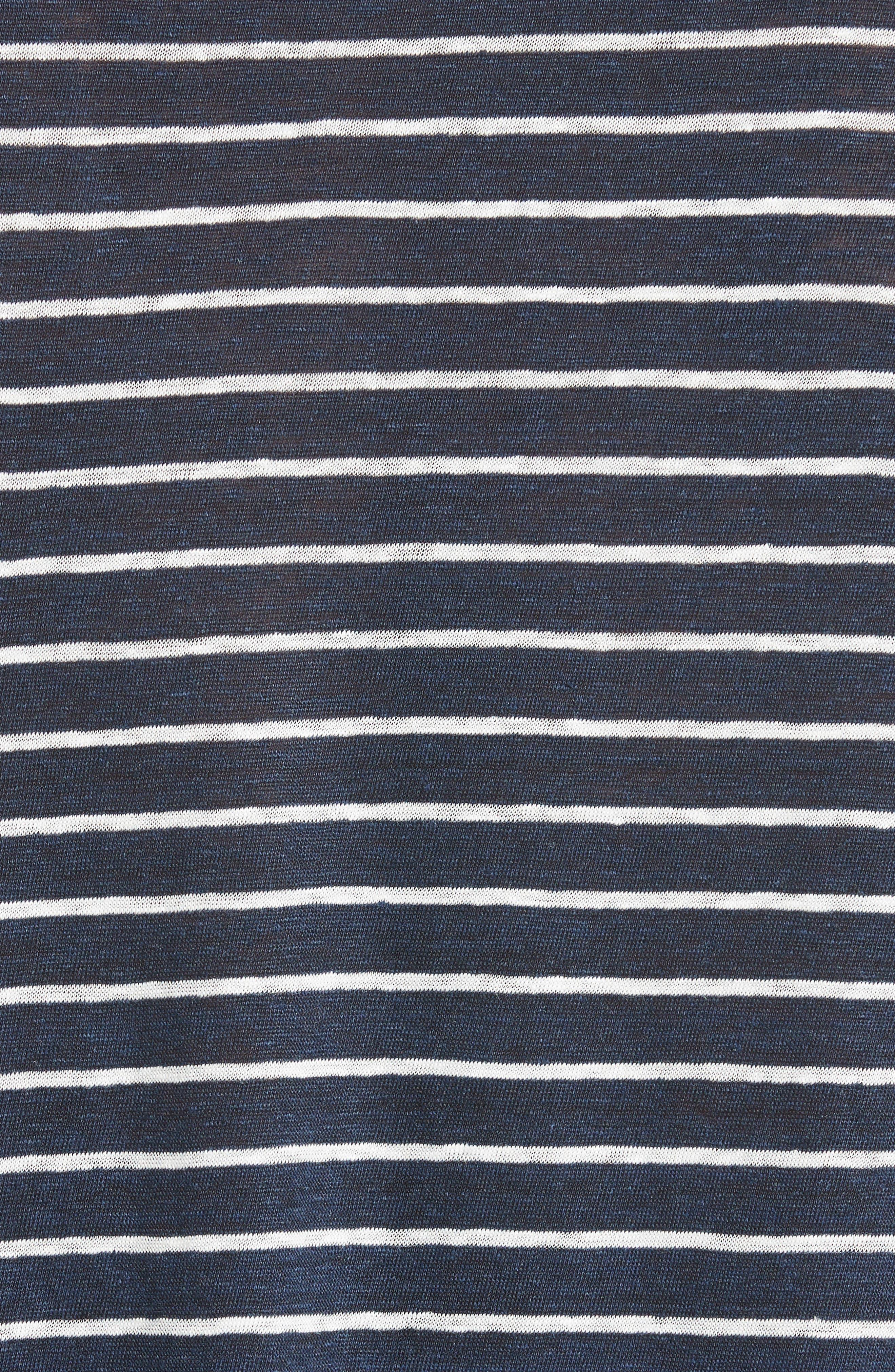 Stripe Linen Jersey T-Shirt,                             Alternate thumbnail 4, color,                             401