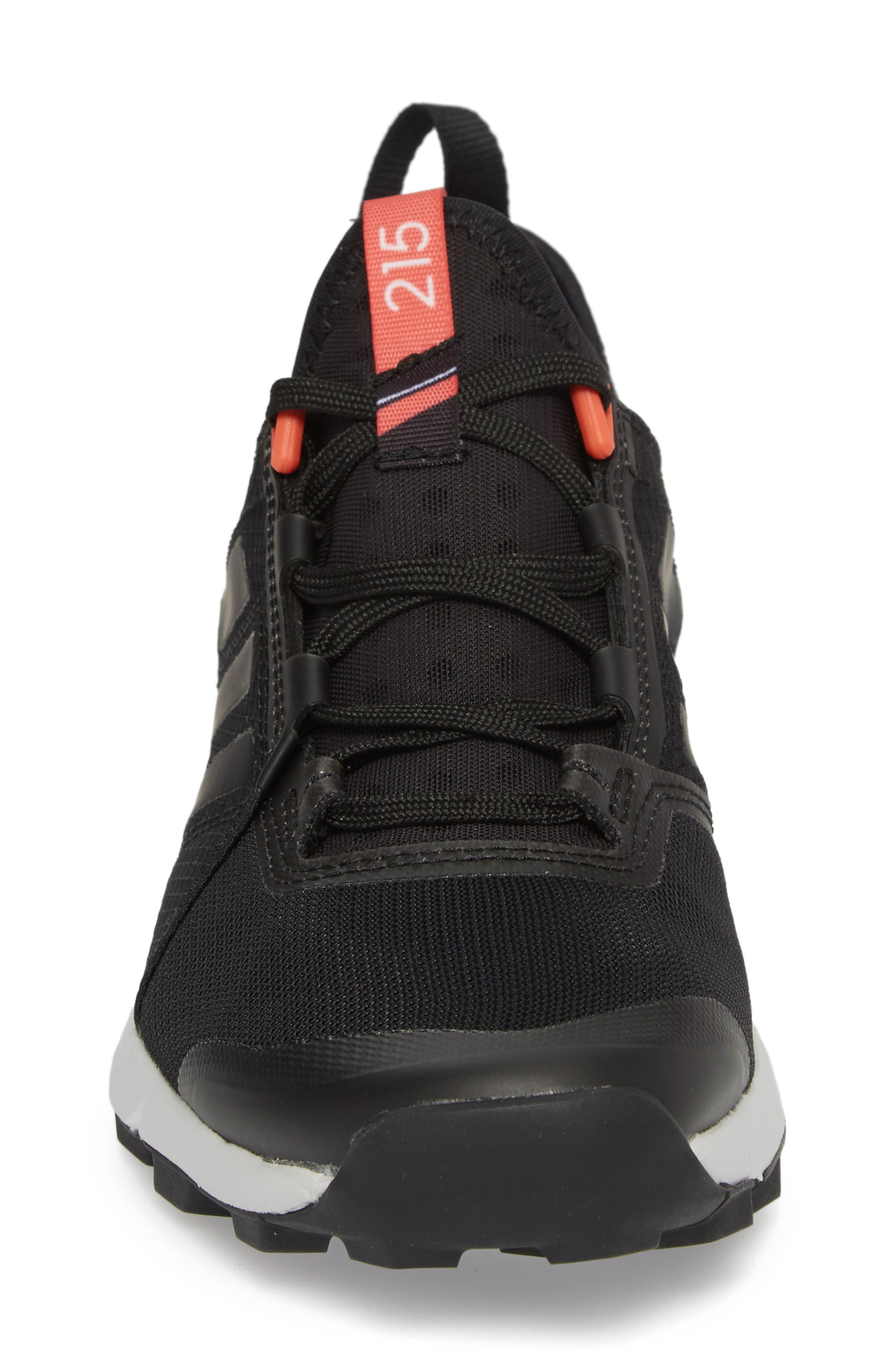 ADIDAS,                             Terrex Agravic Speed Running Shoe,                             Alternate thumbnail 4, color,                             BLACK/ WHITE
