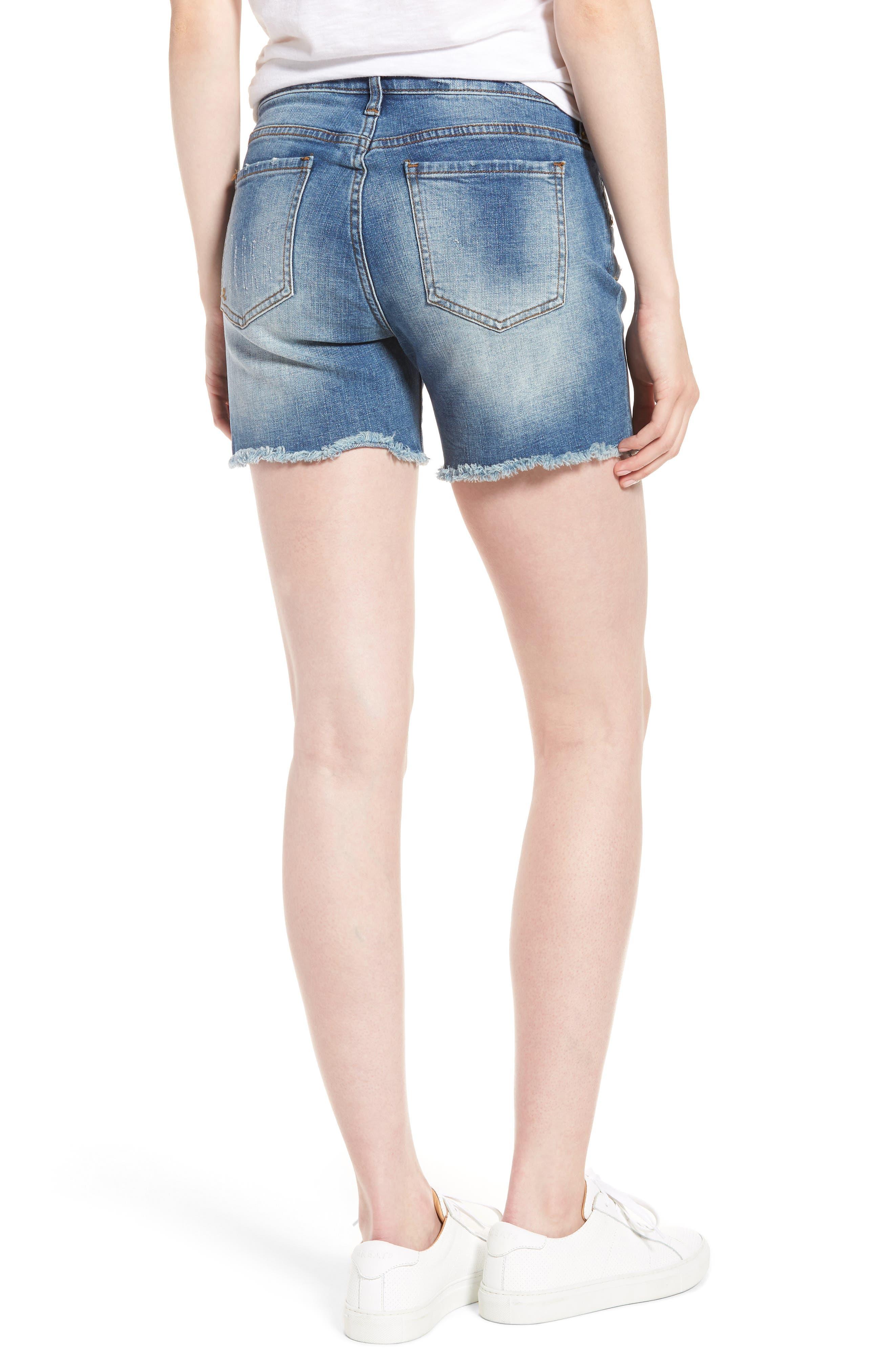 Gidget Distressed Denim Shorts,                             Alternate thumbnail 2, color,                             475