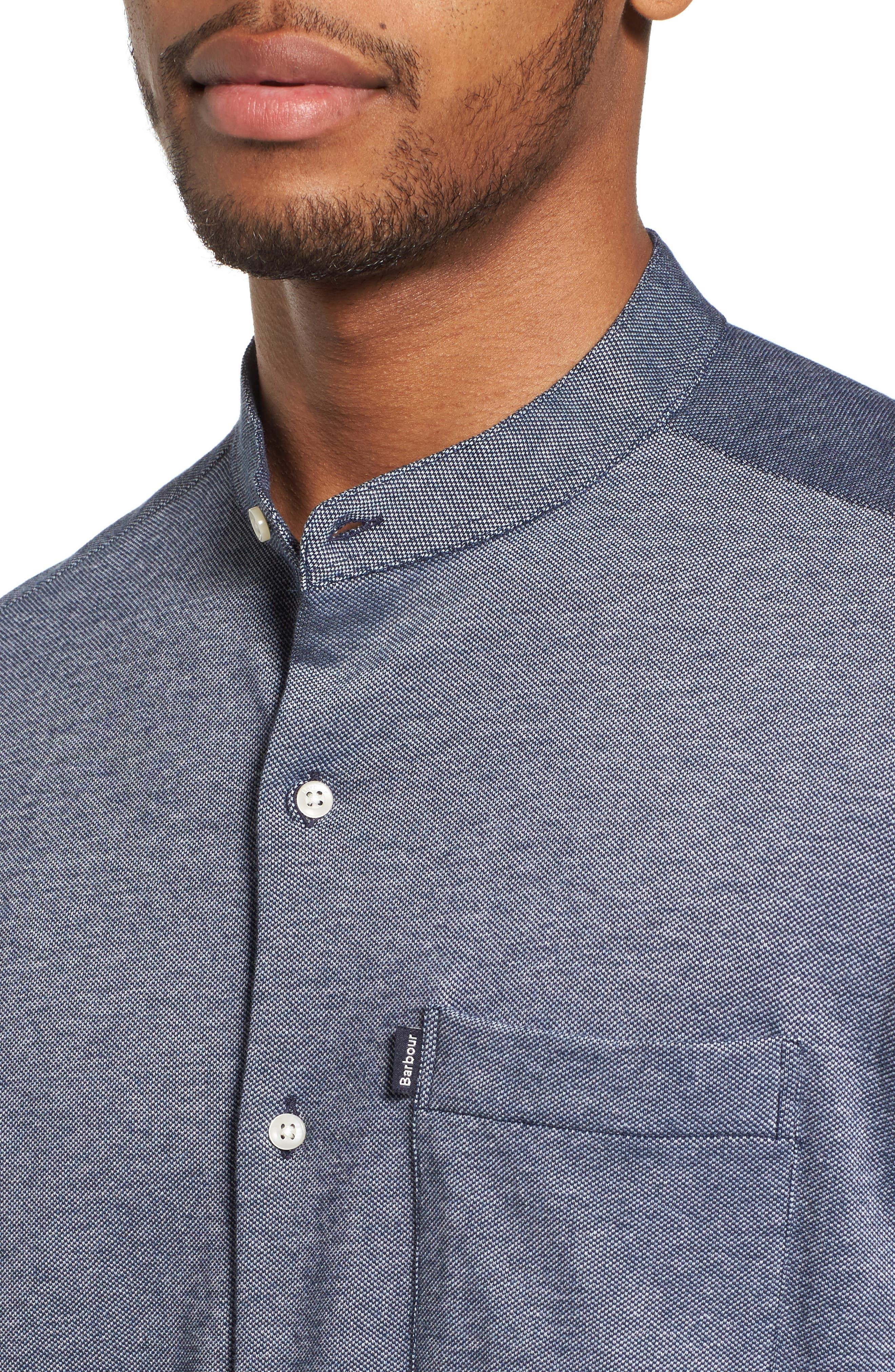 Scafell Regular Fit Solid Sport Shirt,                             Alternate thumbnail 4, color,                             410