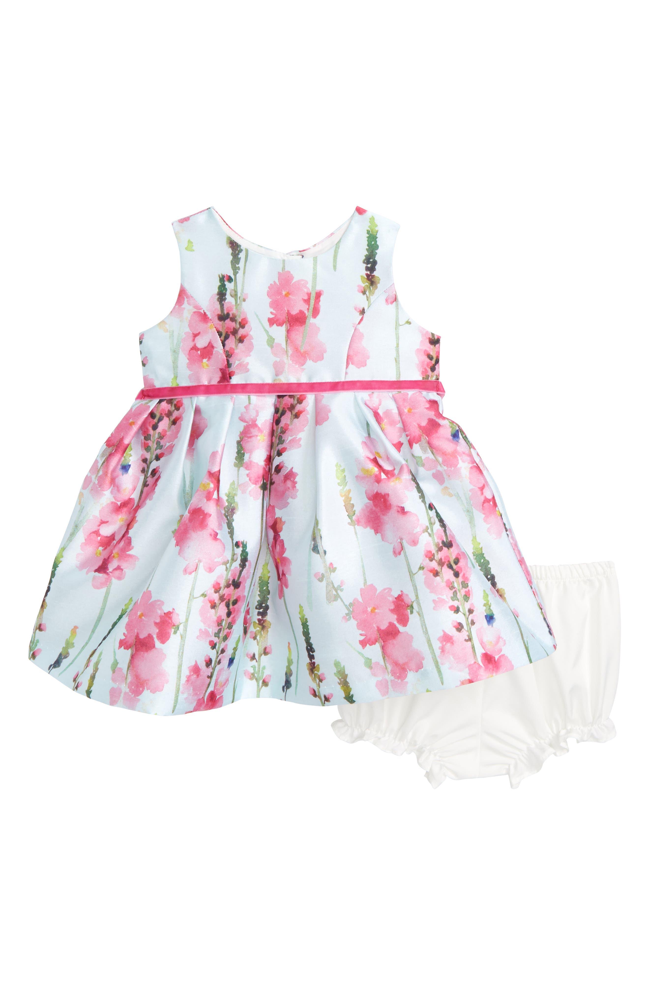 Floral Party Dress,                             Main thumbnail 1, color,