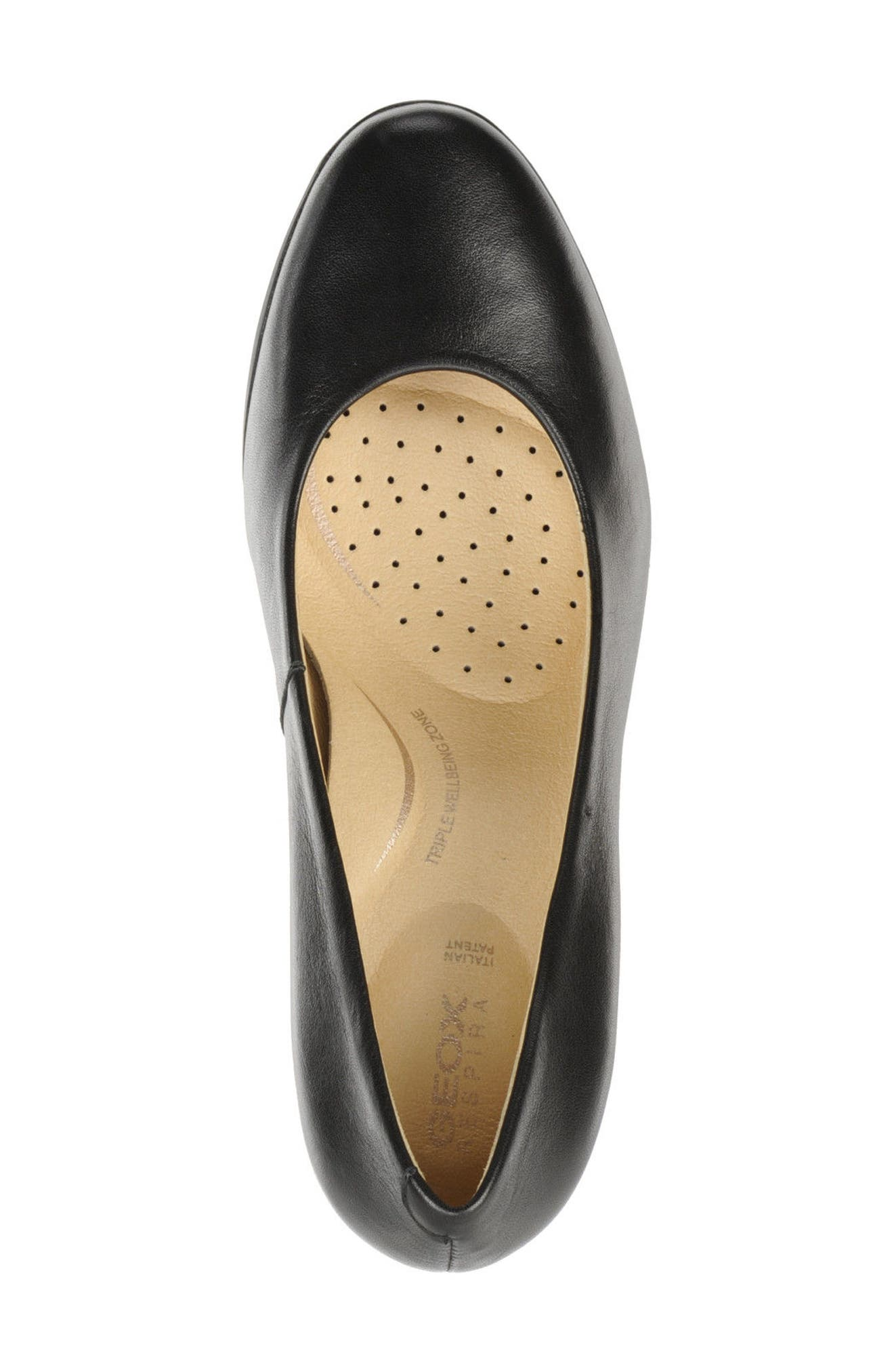 Annya Pump,                             Alternate thumbnail 4, color,                             BLACK NAPPA LEATHER