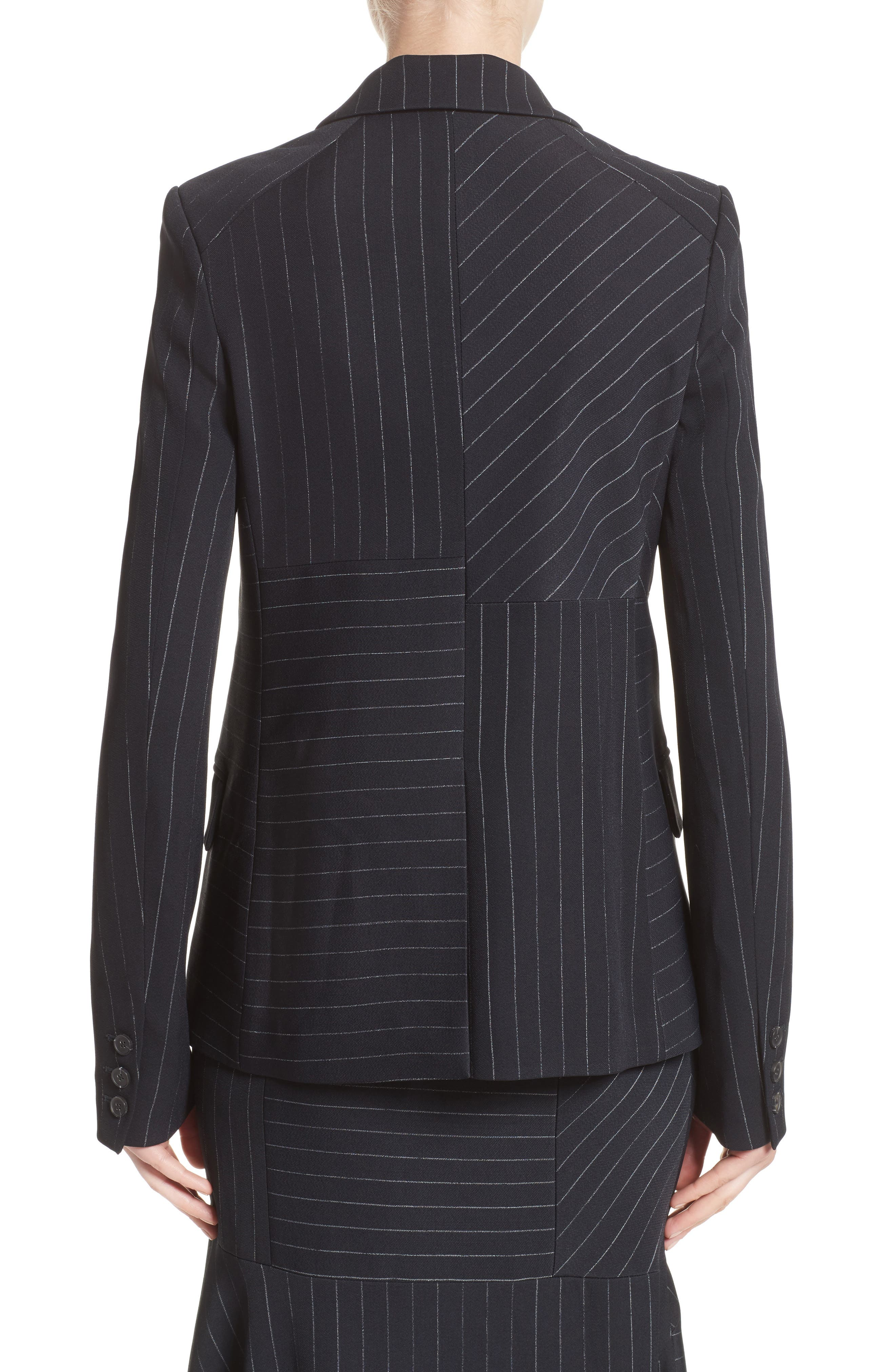 Pinstripe Stretch Jacket,                             Alternate thumbnail 2, color,                             001