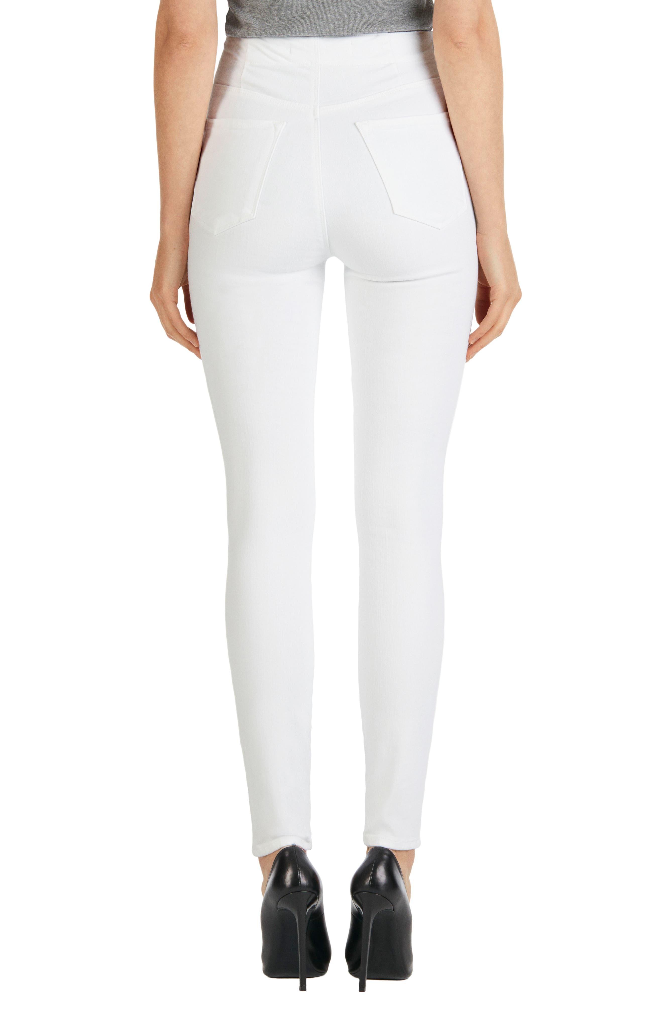 'Natasha Sky High' High Rise Skinny Jeans,                             Alternate thumbnail 2, color,                             100