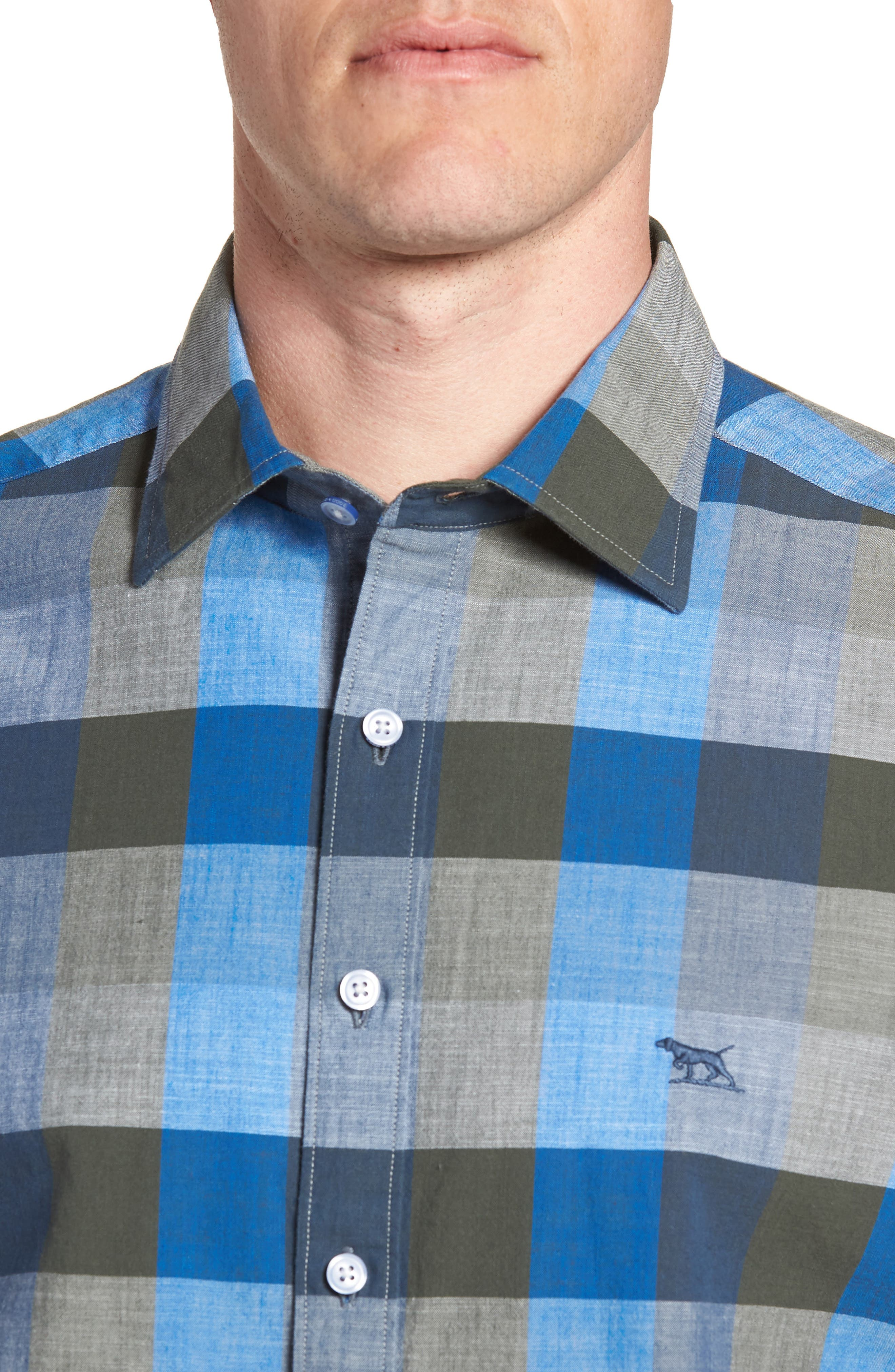 Knighton Regular Fit Sport Shirt,                             Alternate thumbnail 4, color,                             RIVER