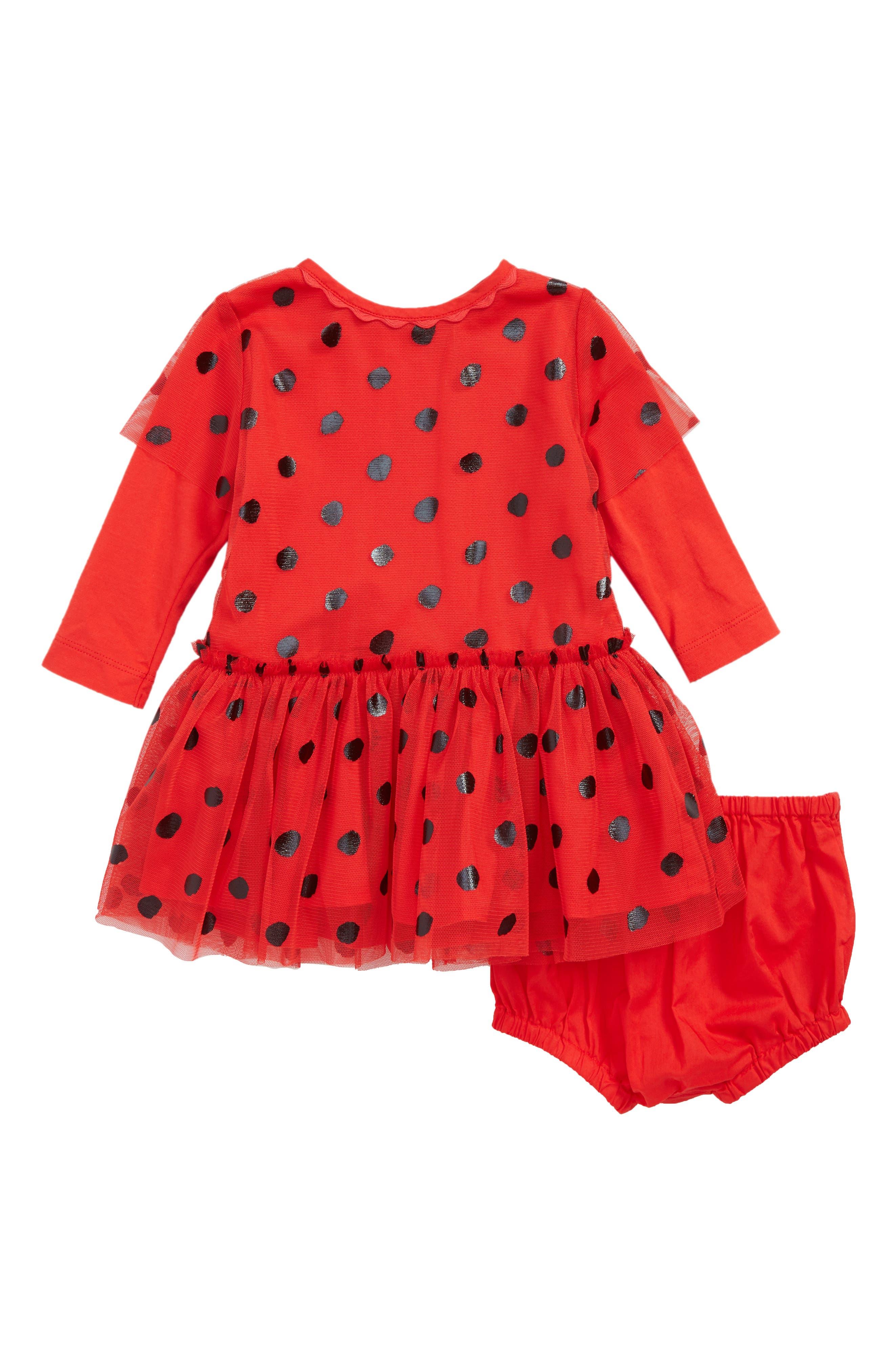 Mouse Dress & Wings Set,                             Main thumbnail 1, color,                             RED BLACK