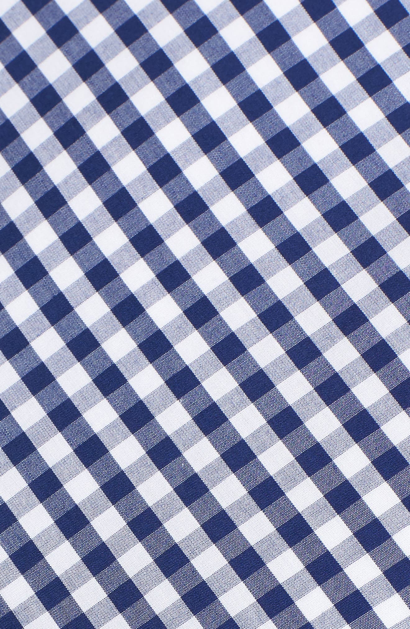 Cotton Gingham Midi Dress,                             Alternate thumbnail 5, color,