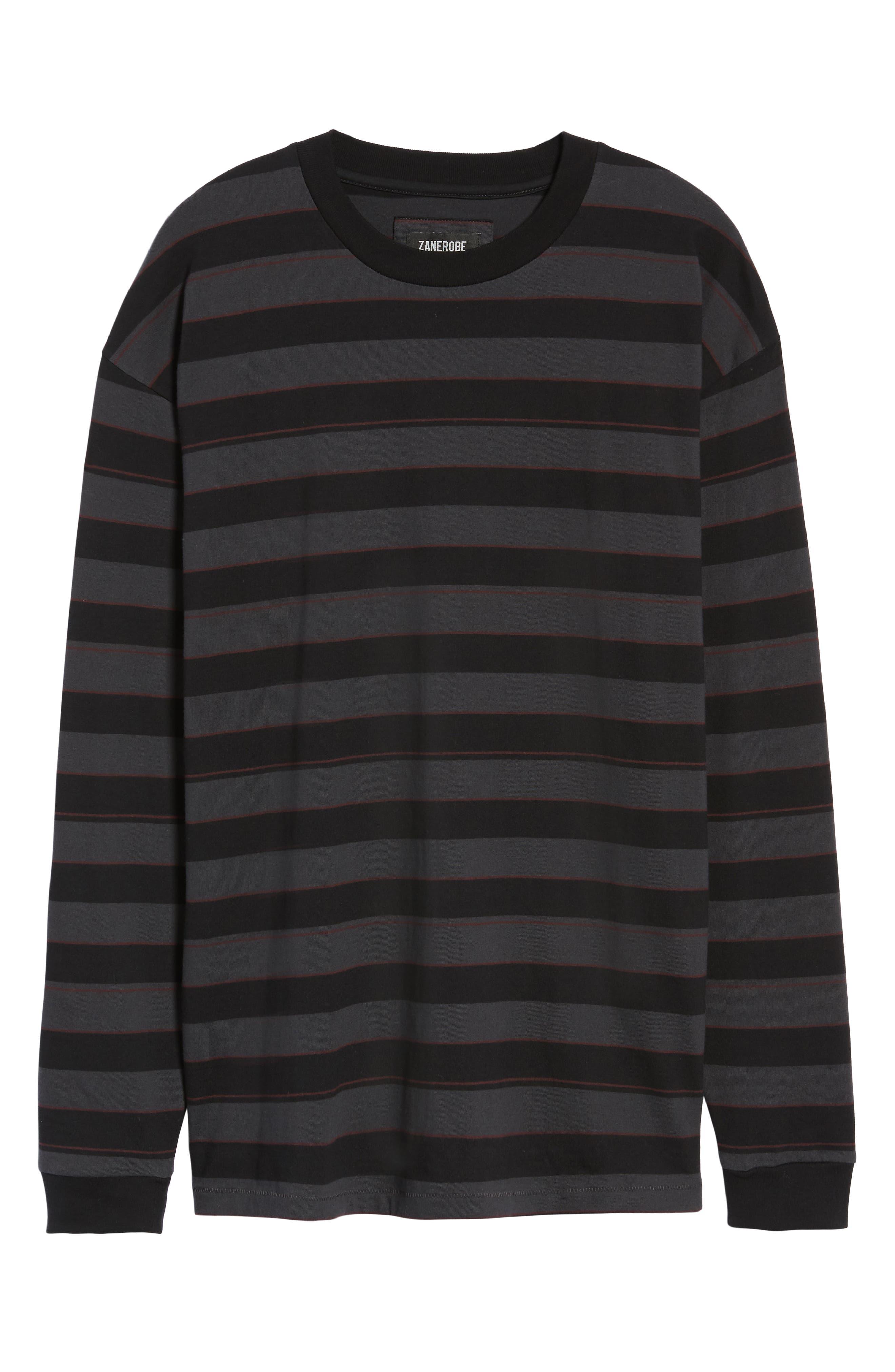 Hoop Box Long Sleeve T-Shirt,                             Alternate thumbnail 6, color,                             VINTAGE BLACK/ BLACK