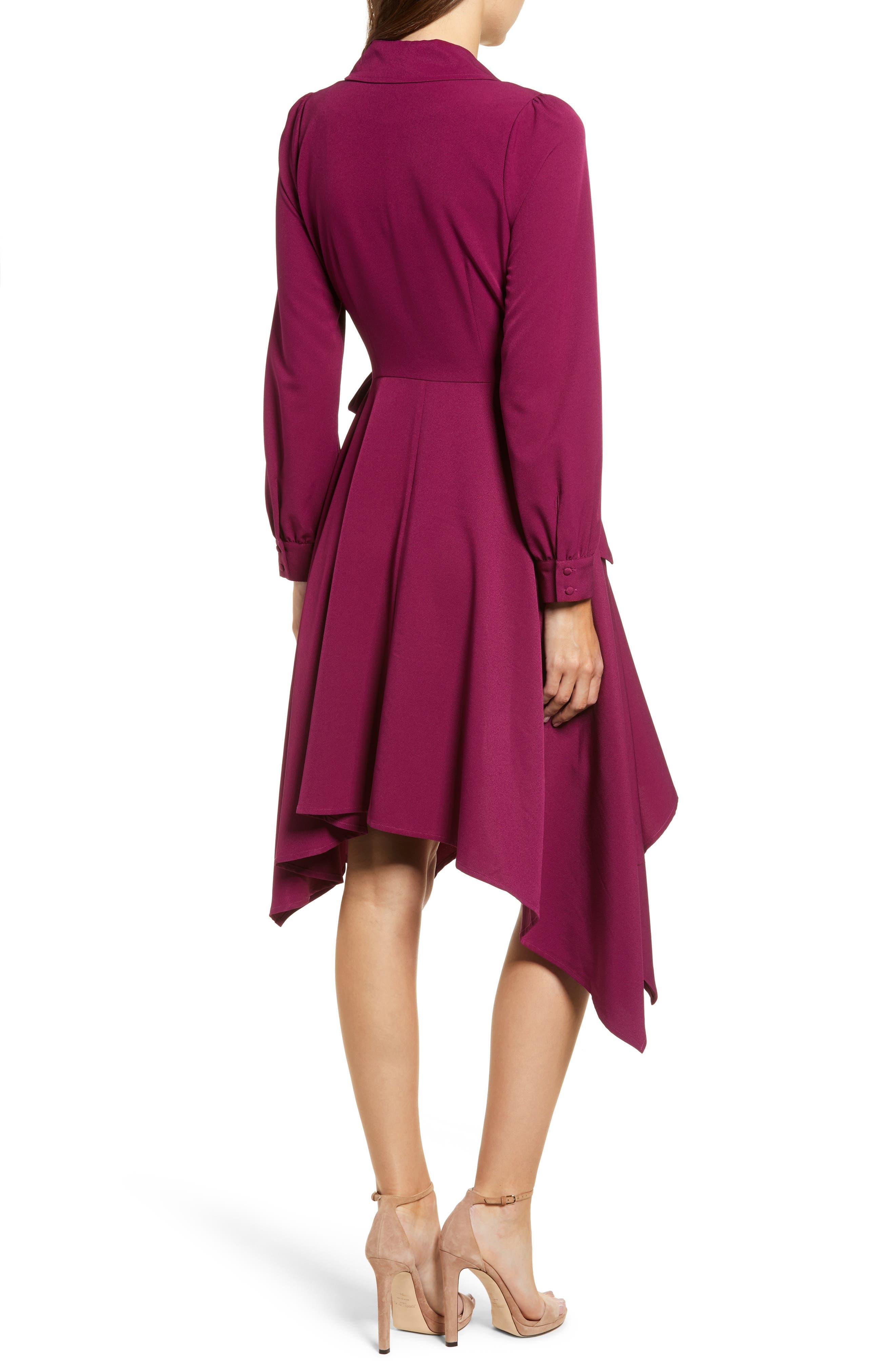 Chriselle Lim Wren Trench Dress,                             Alternate thumbnail 3, color,                             MAGENTA