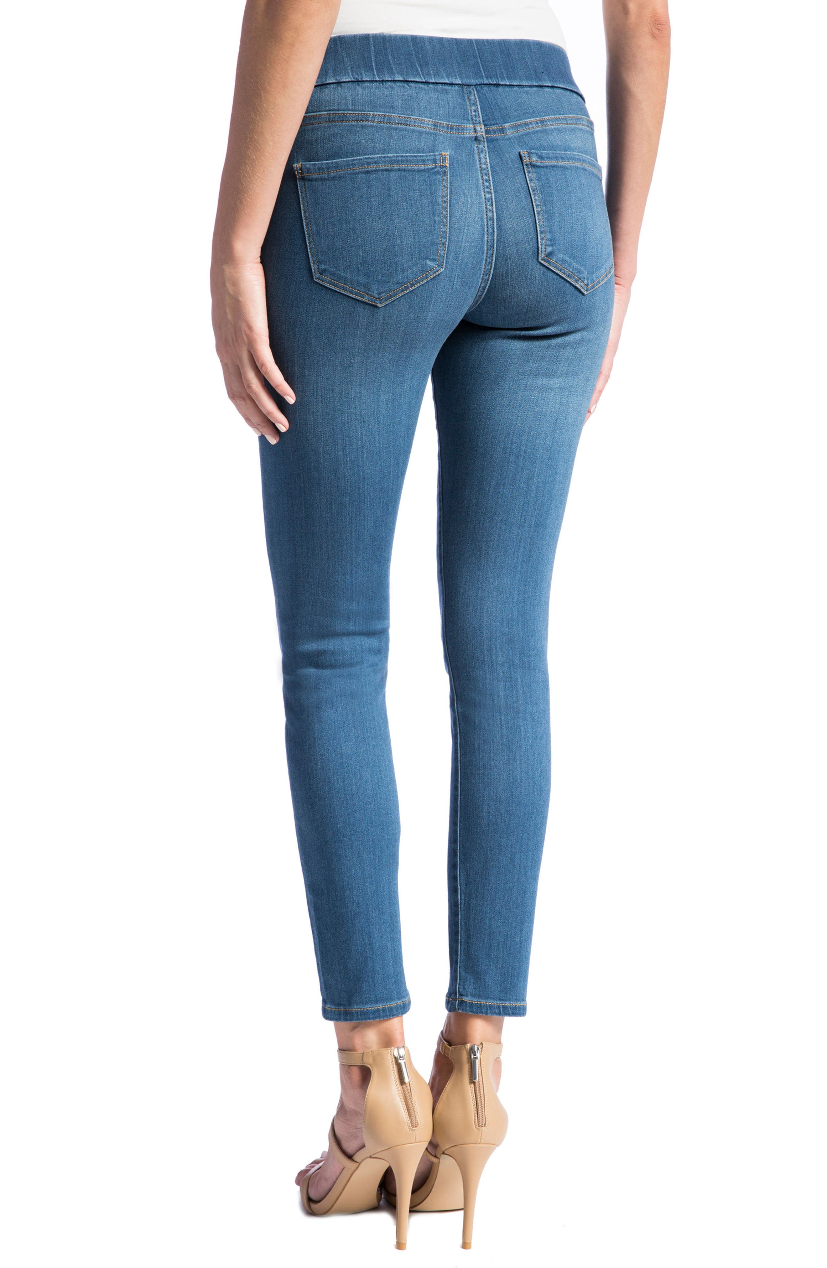 LIVERPOOL,                             Jeans Company High Rise Stretch Denim Ankle Leggings,                             Alternate thumbnail 2, color,                             CORONADO MID