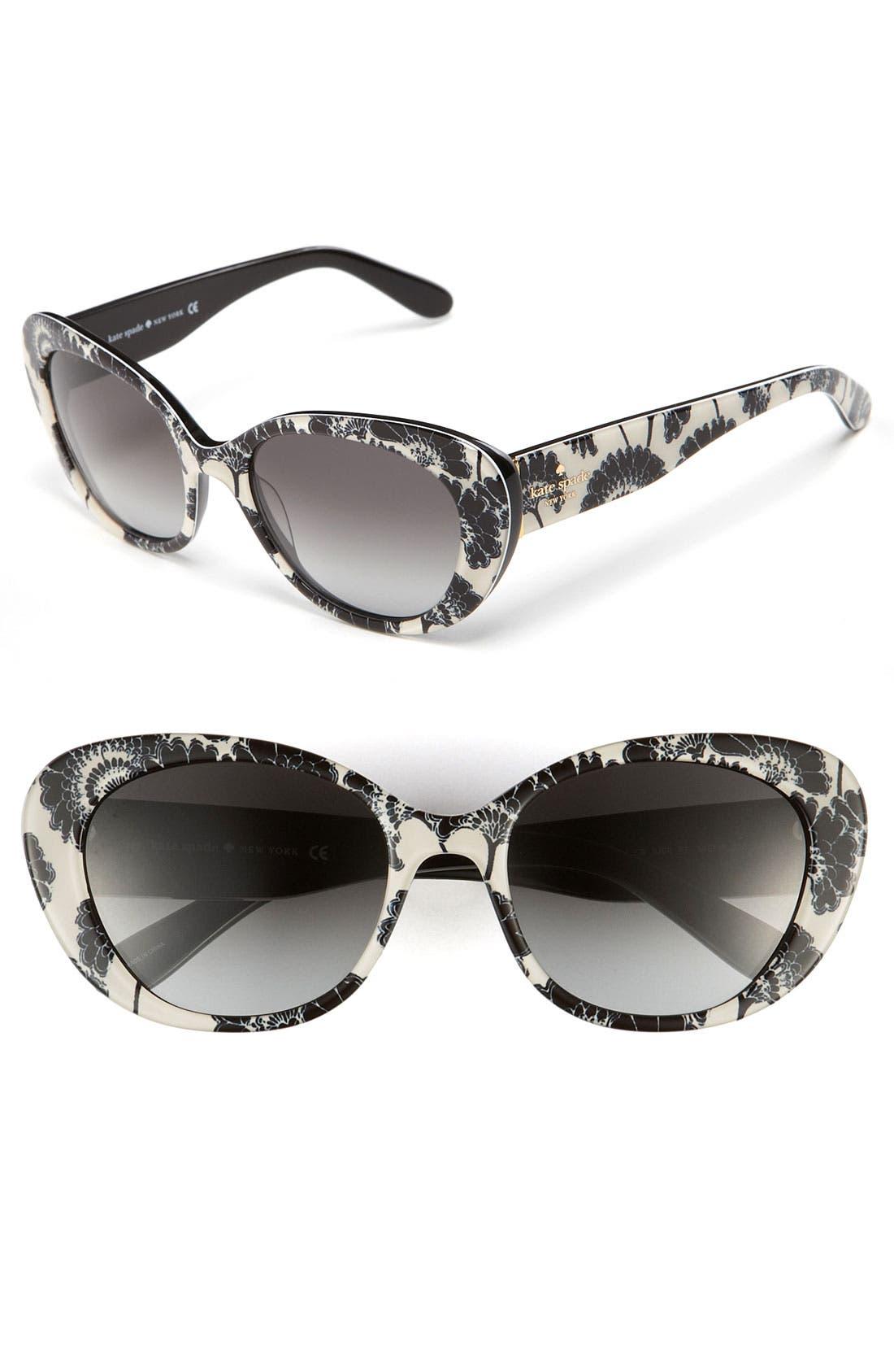 'franca 2' retro sunglasses,                             Main thumbnail 3, color,