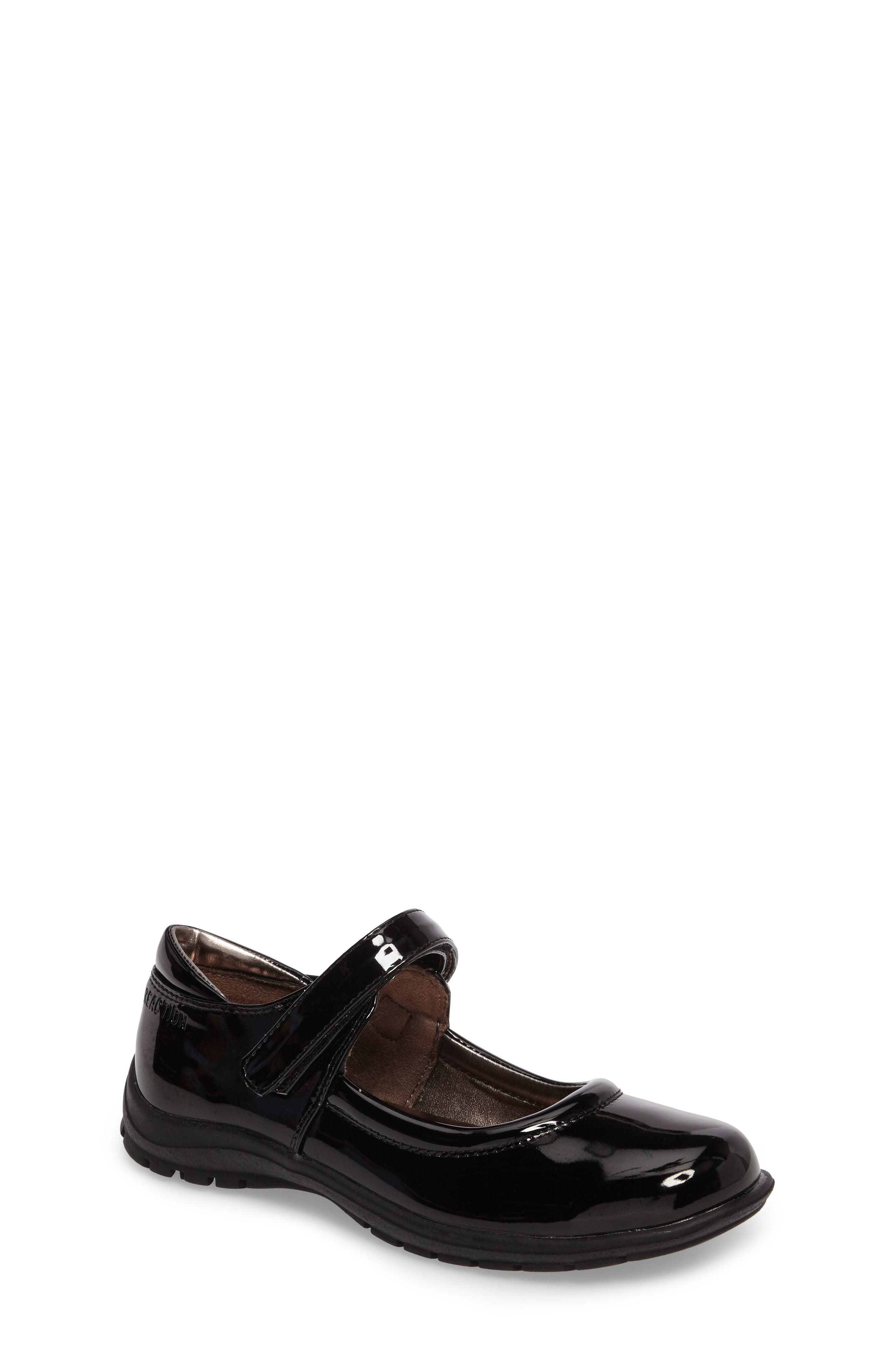 Dolly School Mary Jane,                         Main,                         color, BLACK FAUX PATENT