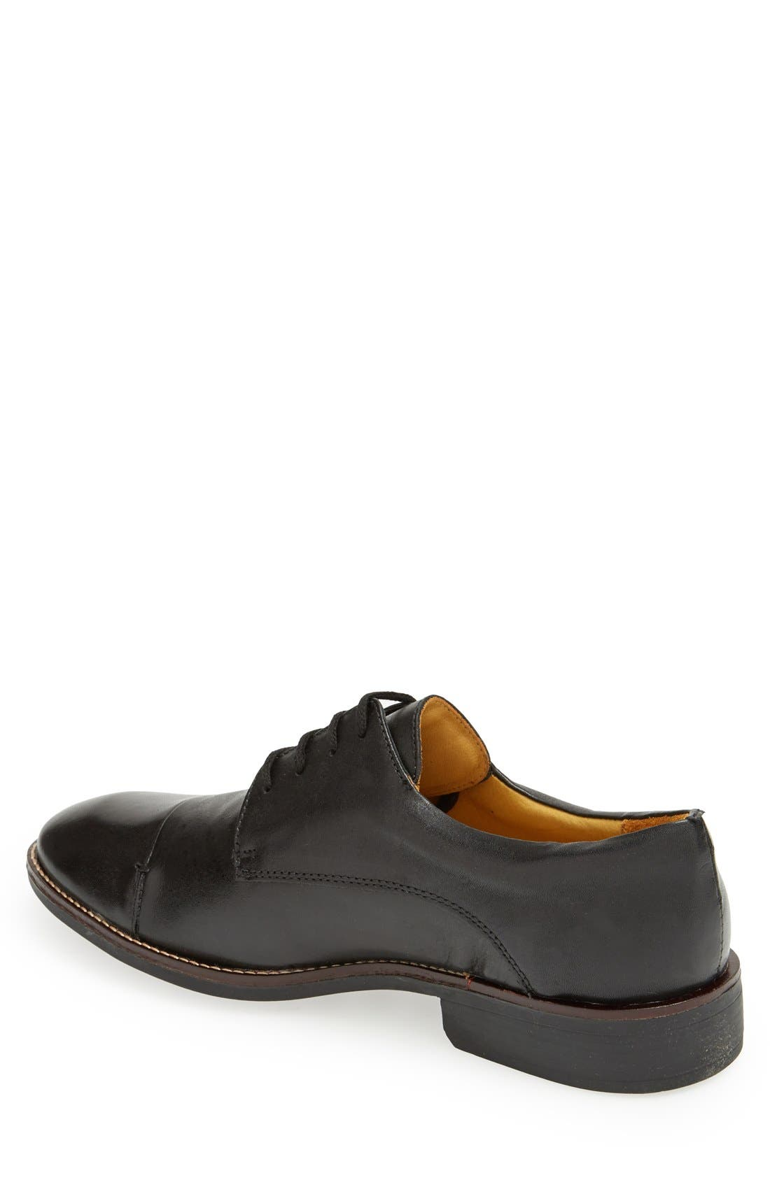 'Irving' Cap Toe Derby,                             Alternate thumbnail 2, color,                             BLACK