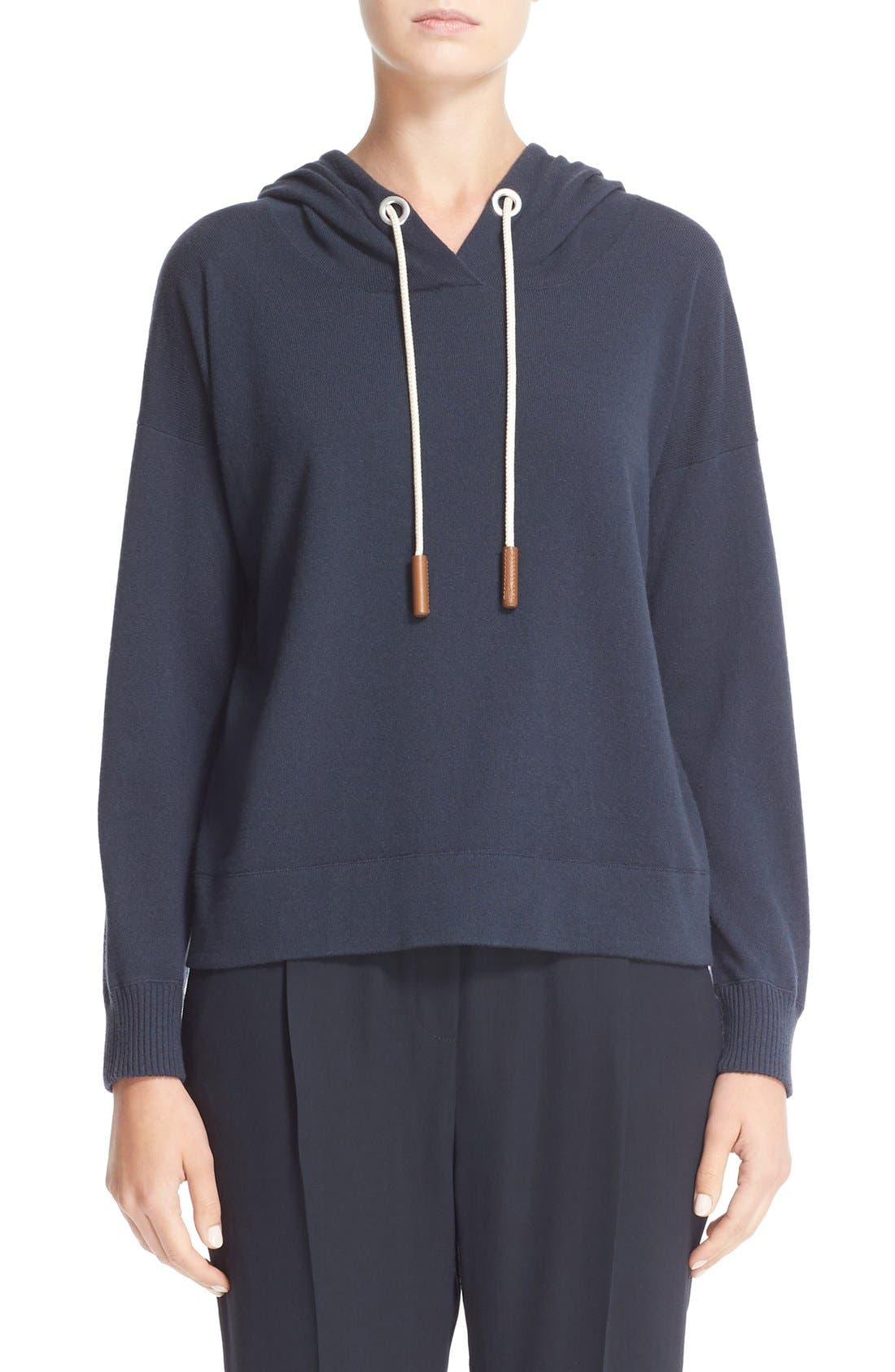 Cashmere Hooded Sweatshirt,                             Main thumbnail 1, color,                             400