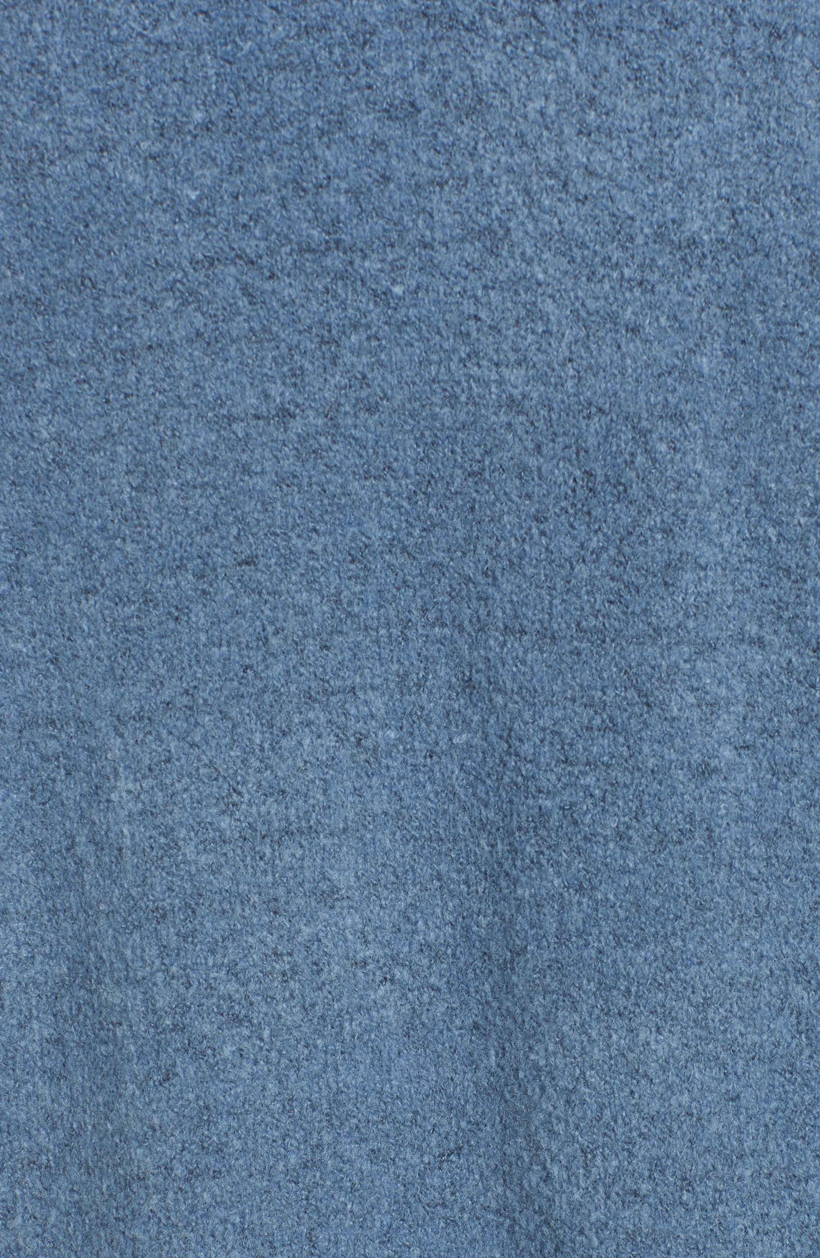 Long Knit Duster,                             Alternate thumbnail 5, color,                             BLUE CAPTAIN HEATHER