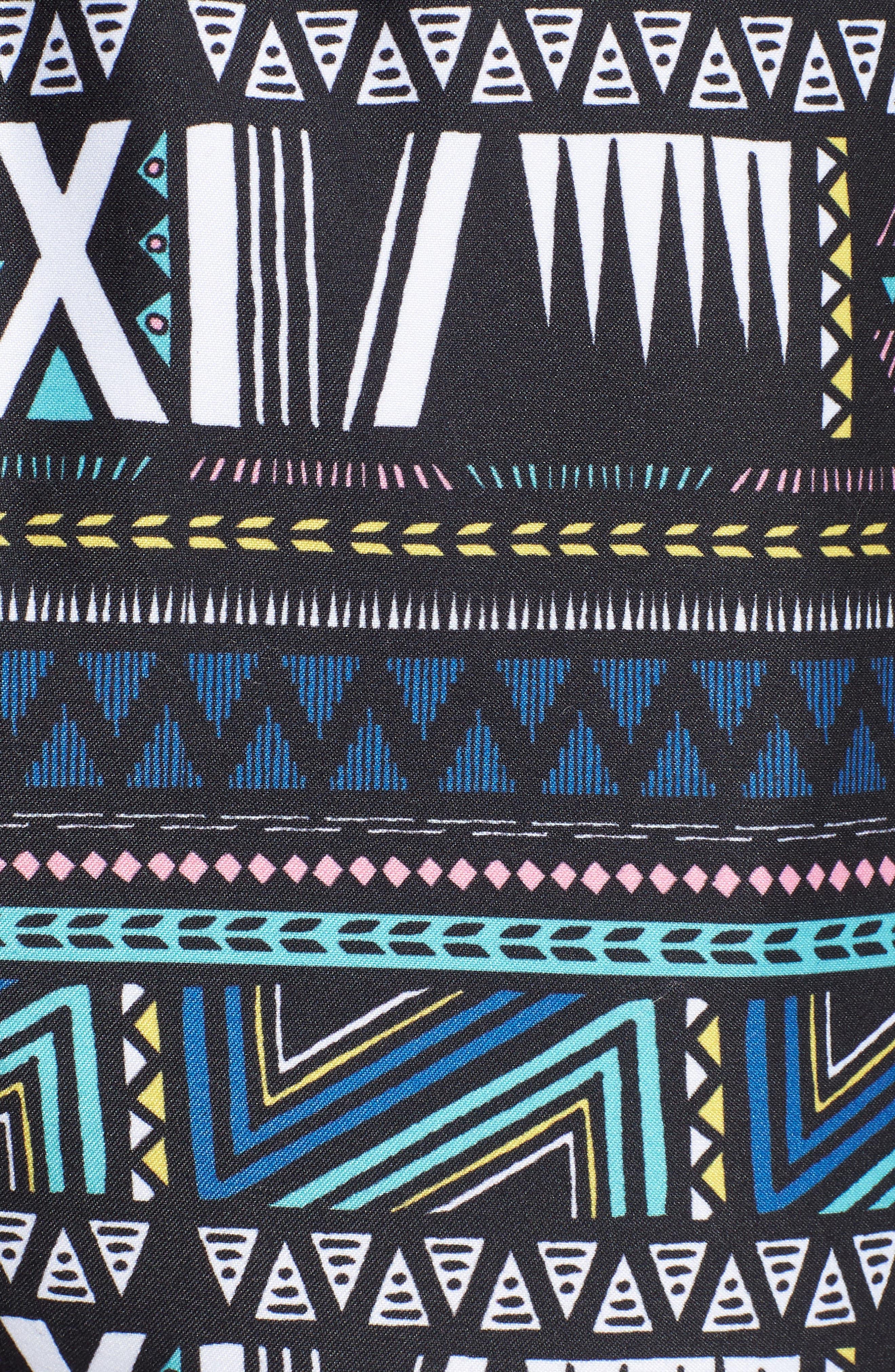Print Swim Trunks,                             Alternate thumbnail 5, color,                             BLACK SUPERNOVA