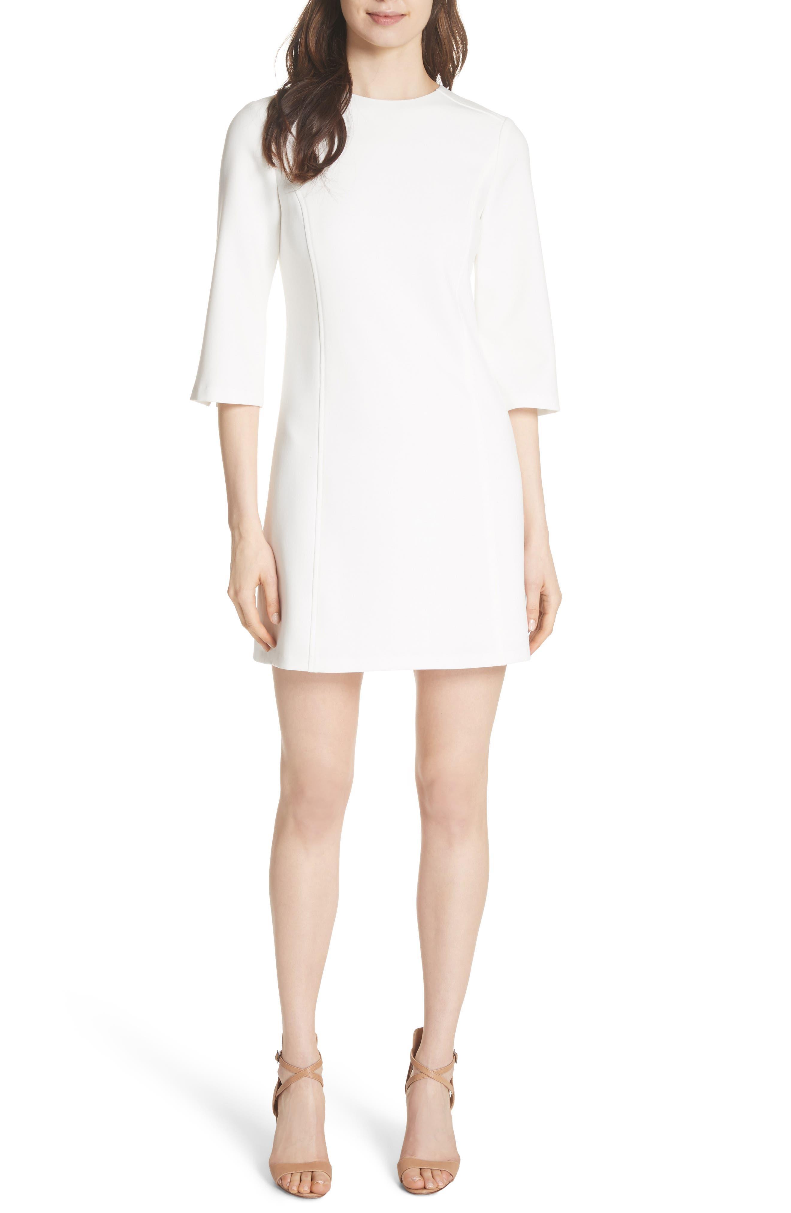 Gem Shift Dress,                         Main,                         color, OFF WHITE