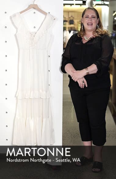Romance Row Ruffle Tier Maxi Dress, sales video thumbnail