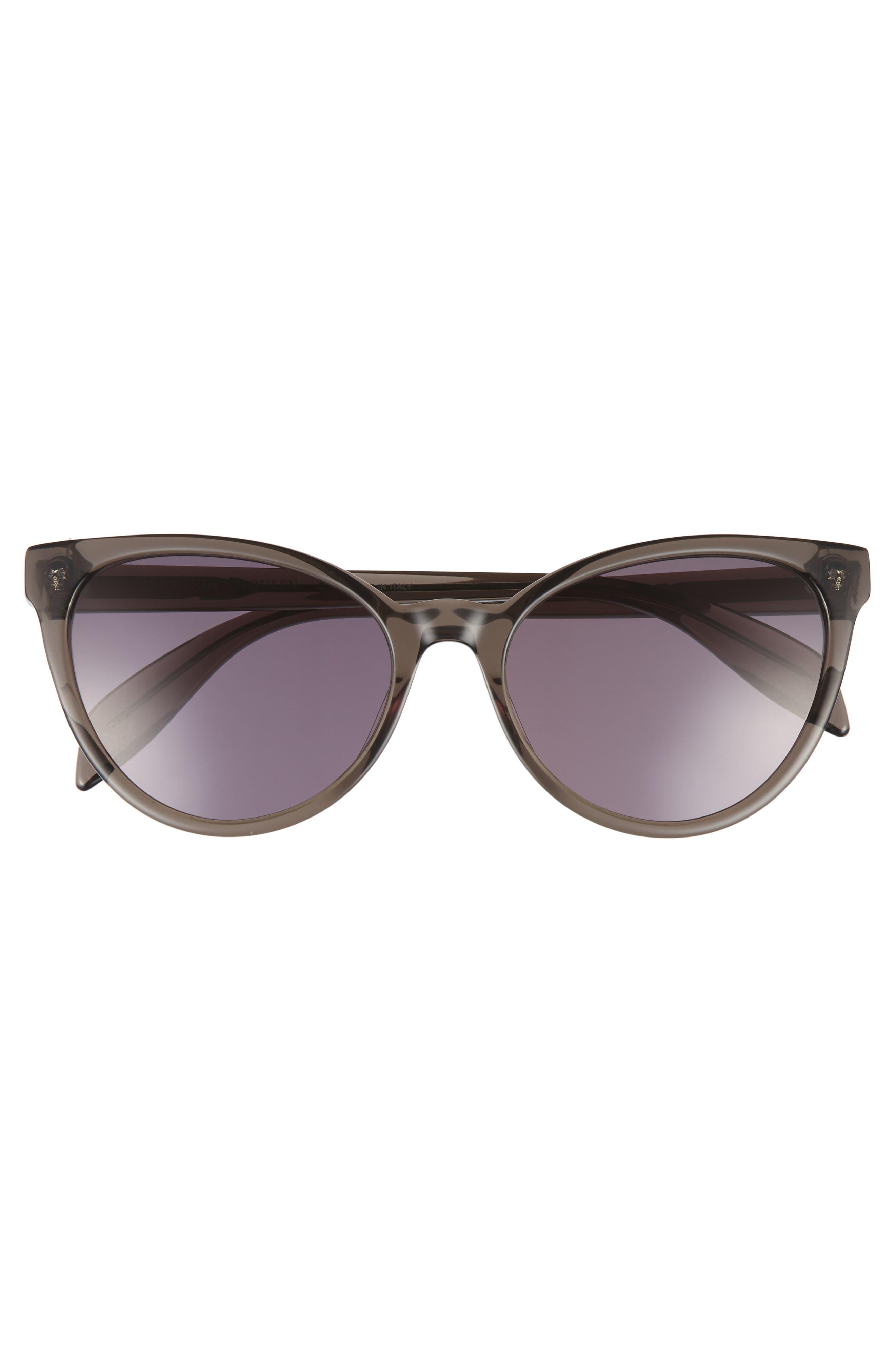 55mm Cat Eye Sunglasses,                             Alternate thumbnail 3, color,                             020