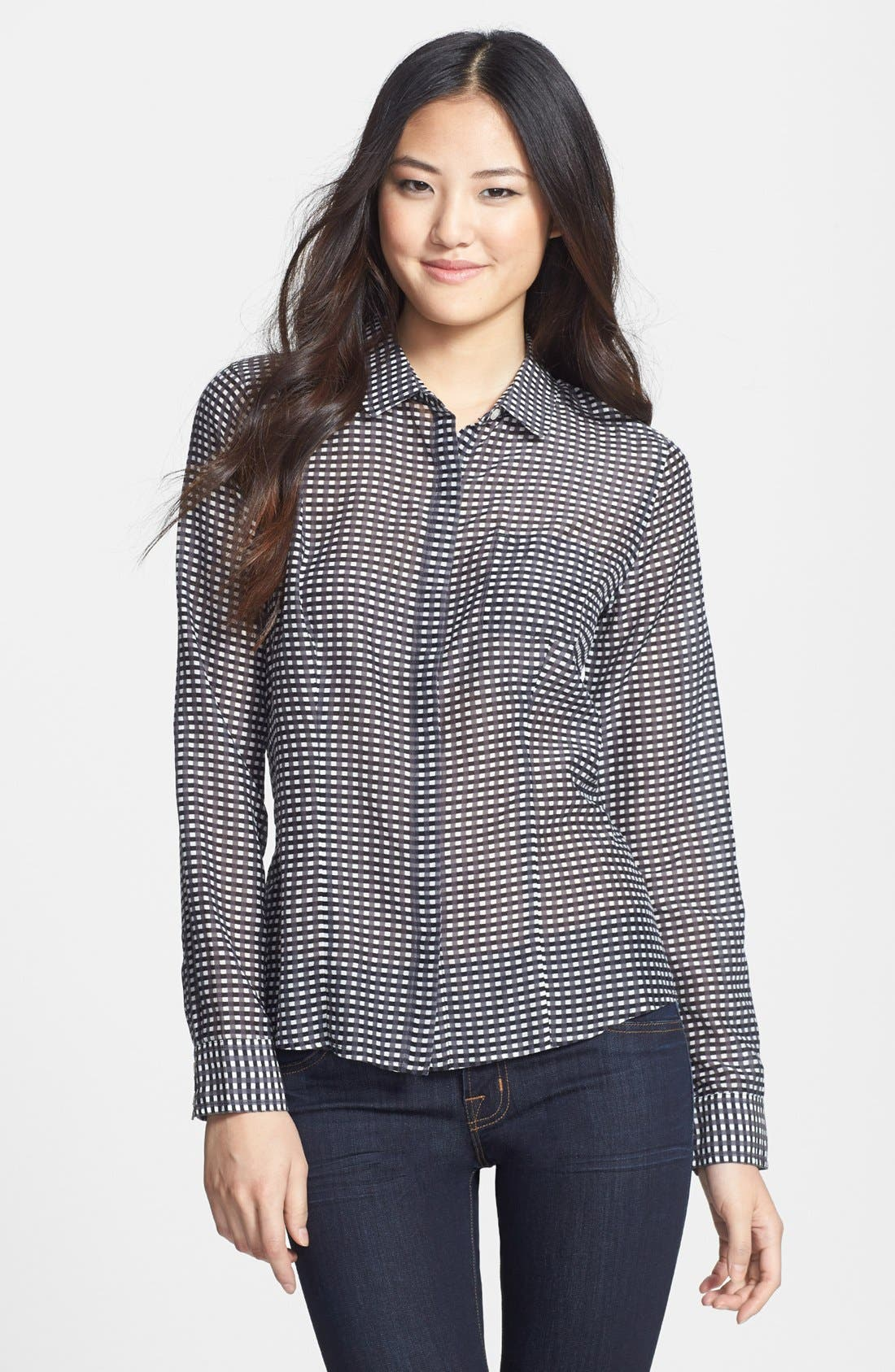 Cotton & Silk Shirt,                             Main thumbnail 1, color,