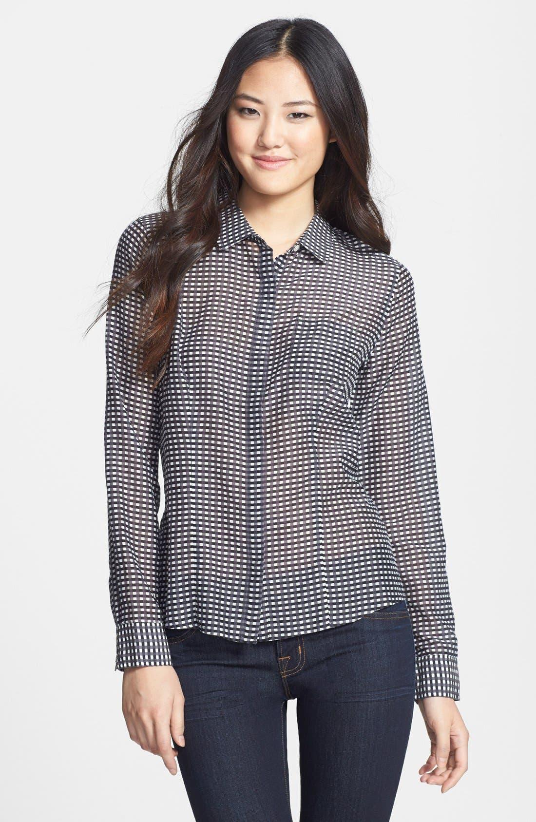 Cotton & Silk Shirt,                         Main,                         color,