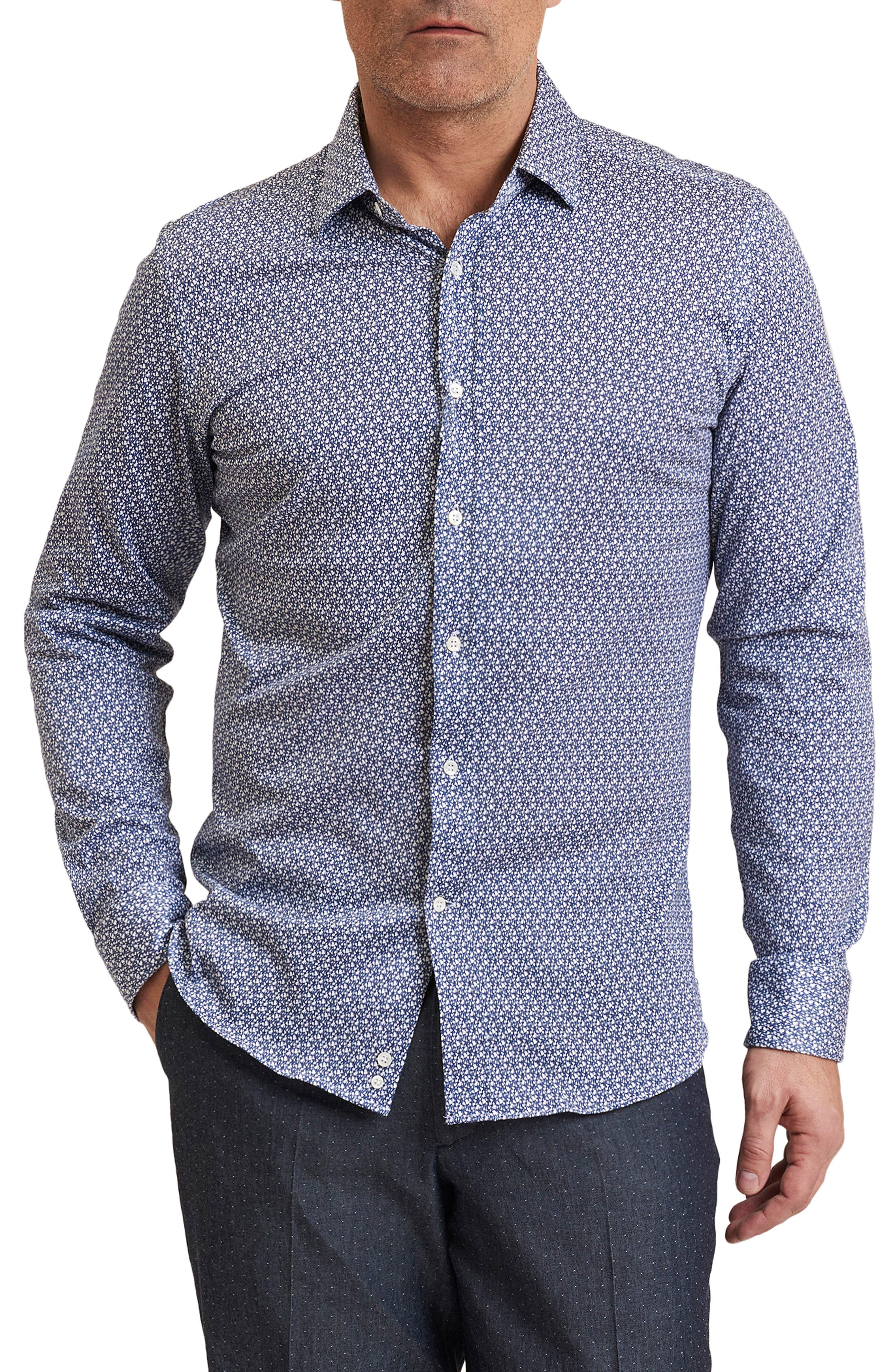 Gibson Regular Fit Guitar Print Sport Shirt,                             Main thumbnail 1, color,