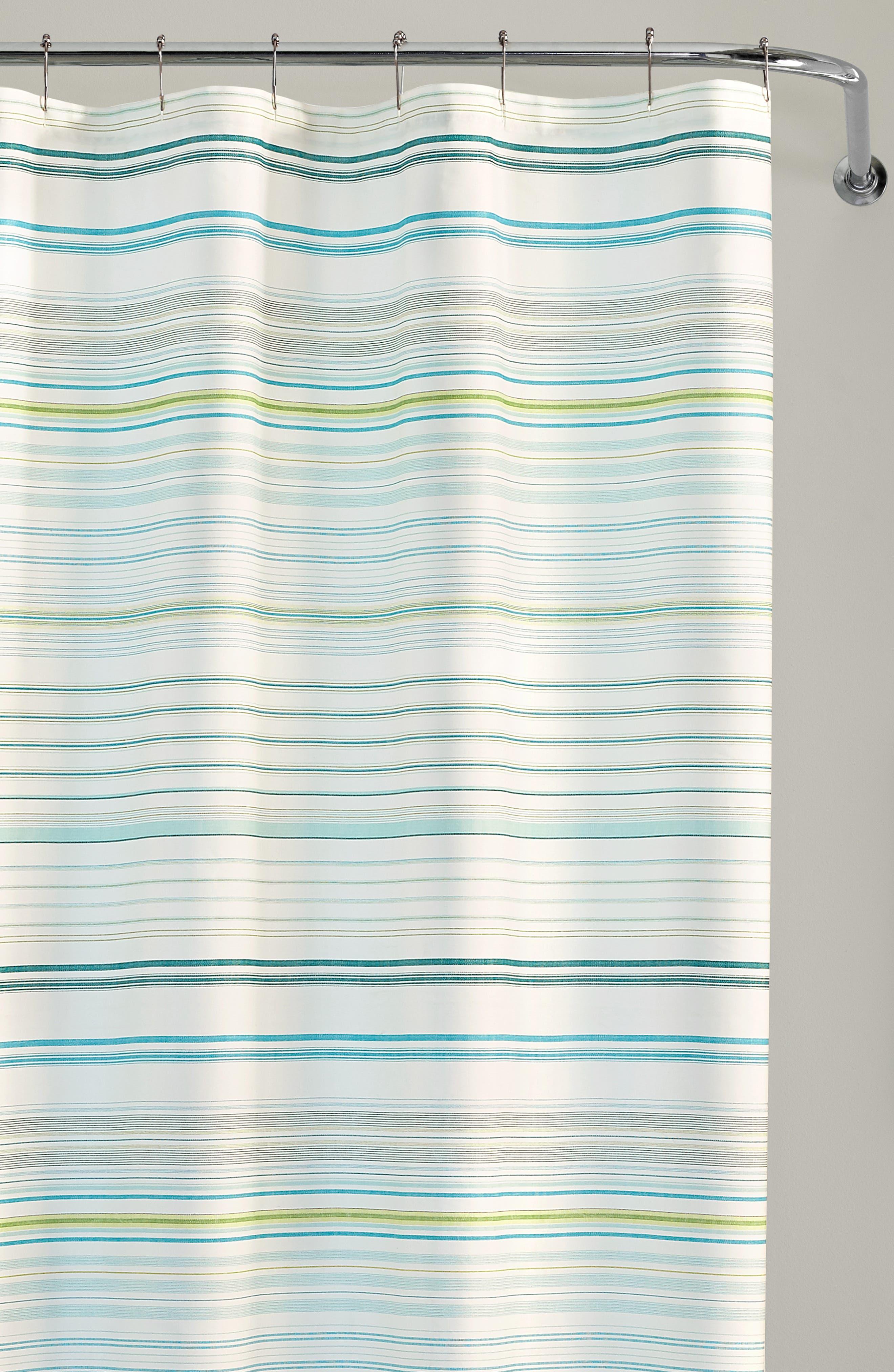 TOMMY BAHAMA,                             La Scala Breezer Shower Curtain,                             Alternate thumbnail 3, color,                             PASTEL GREEN