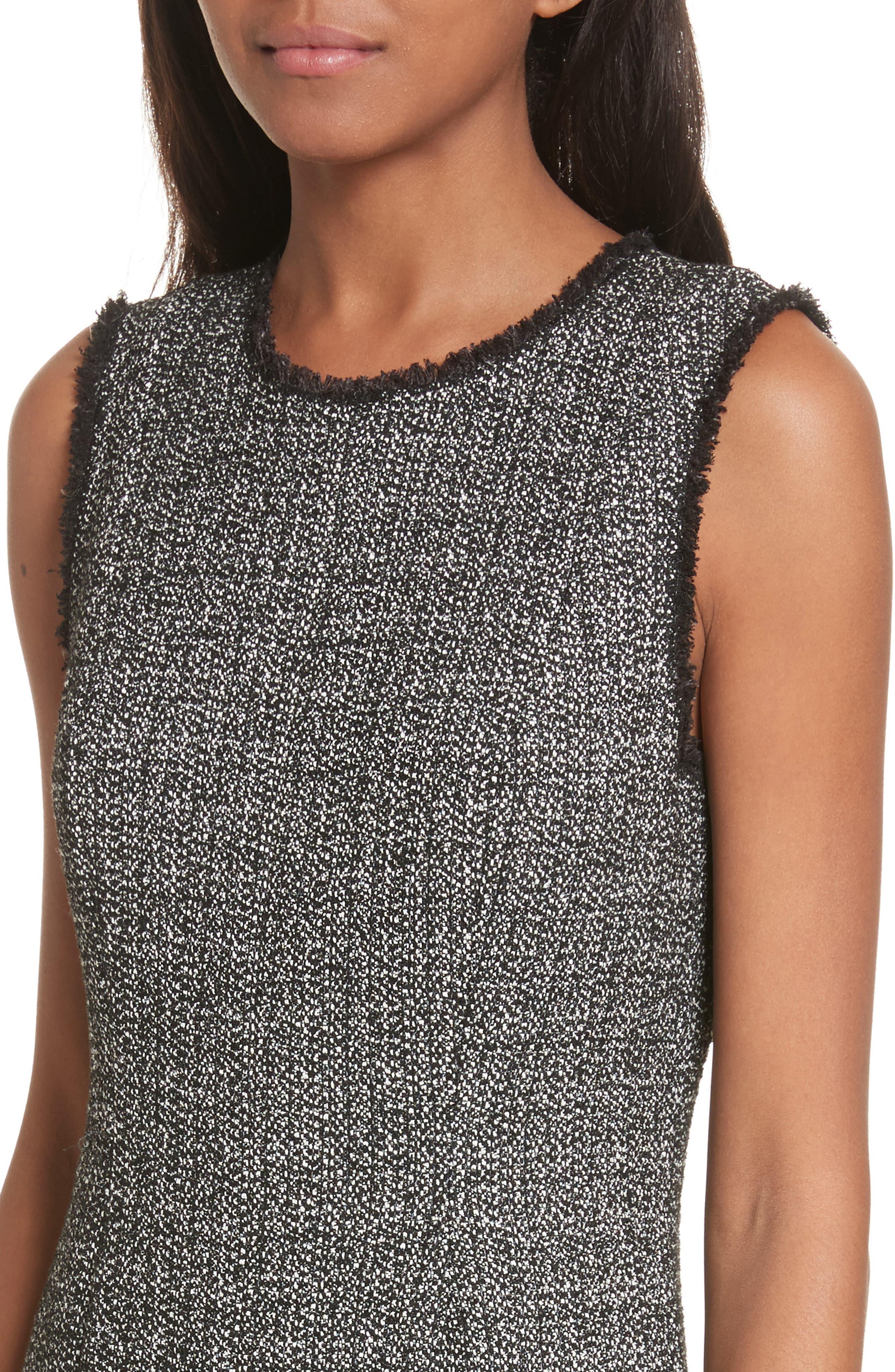 Tweed Sheath Dress,                             Alternate thumbnail 4, color,                             014