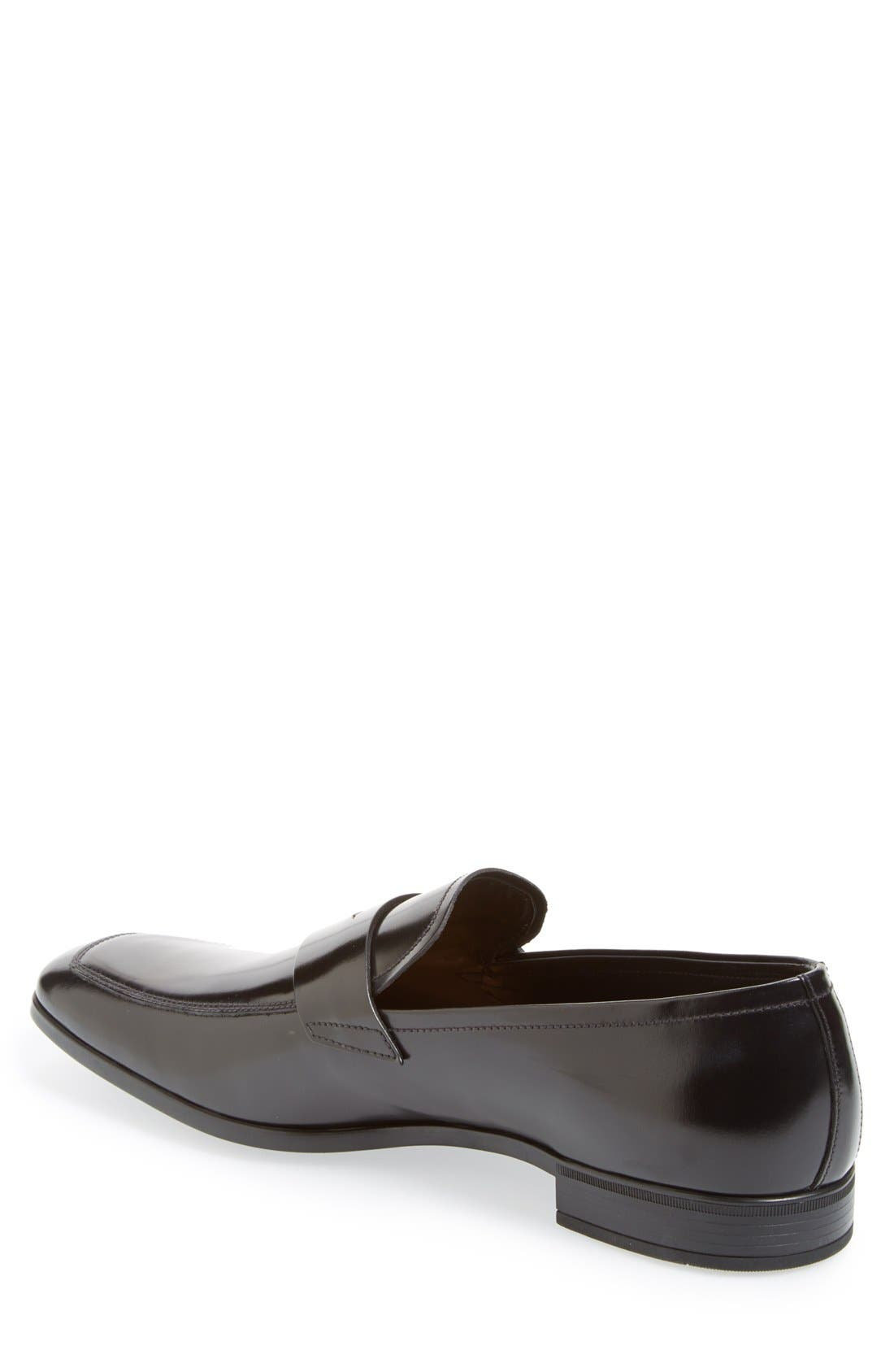 Spazzolato Penny Loafer,                             Alternate thumbnail 2, color,                             001