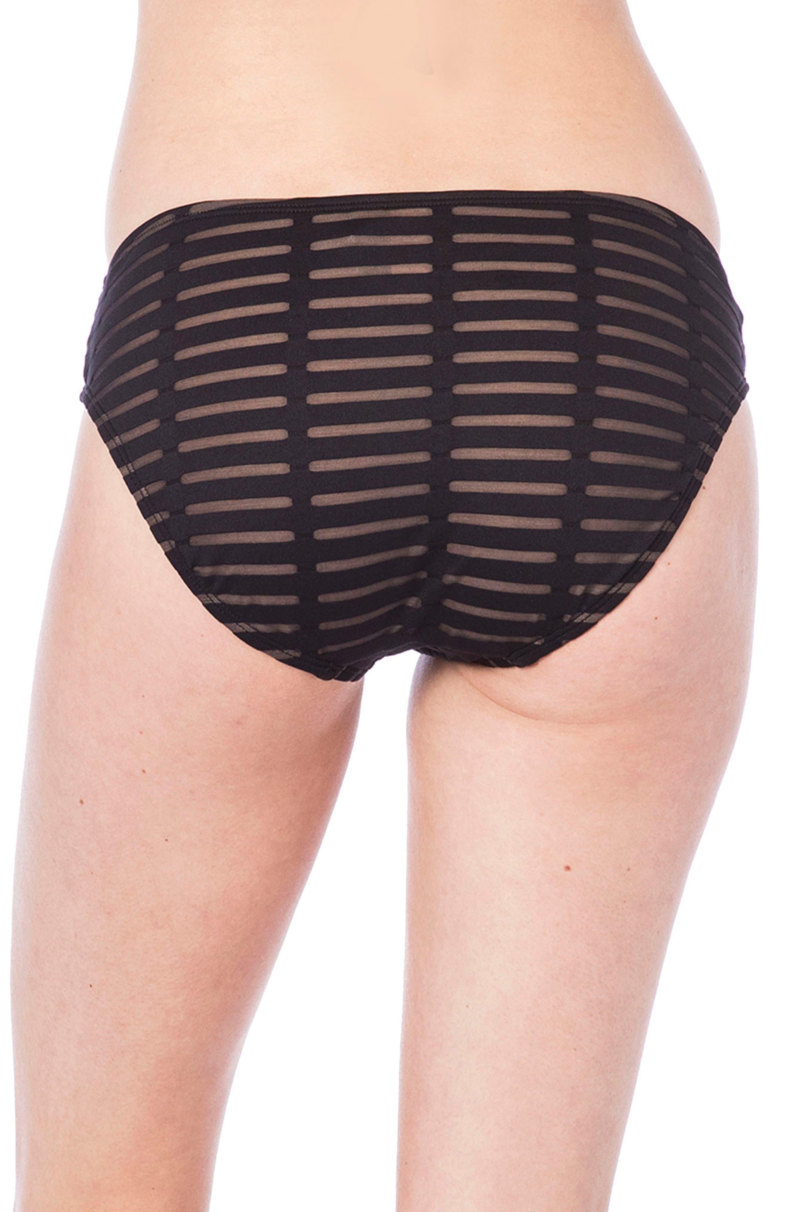 Off the Grid Hipster Bikini Bottoms,                             Alternate thumbnail 2, color,                             BLACK