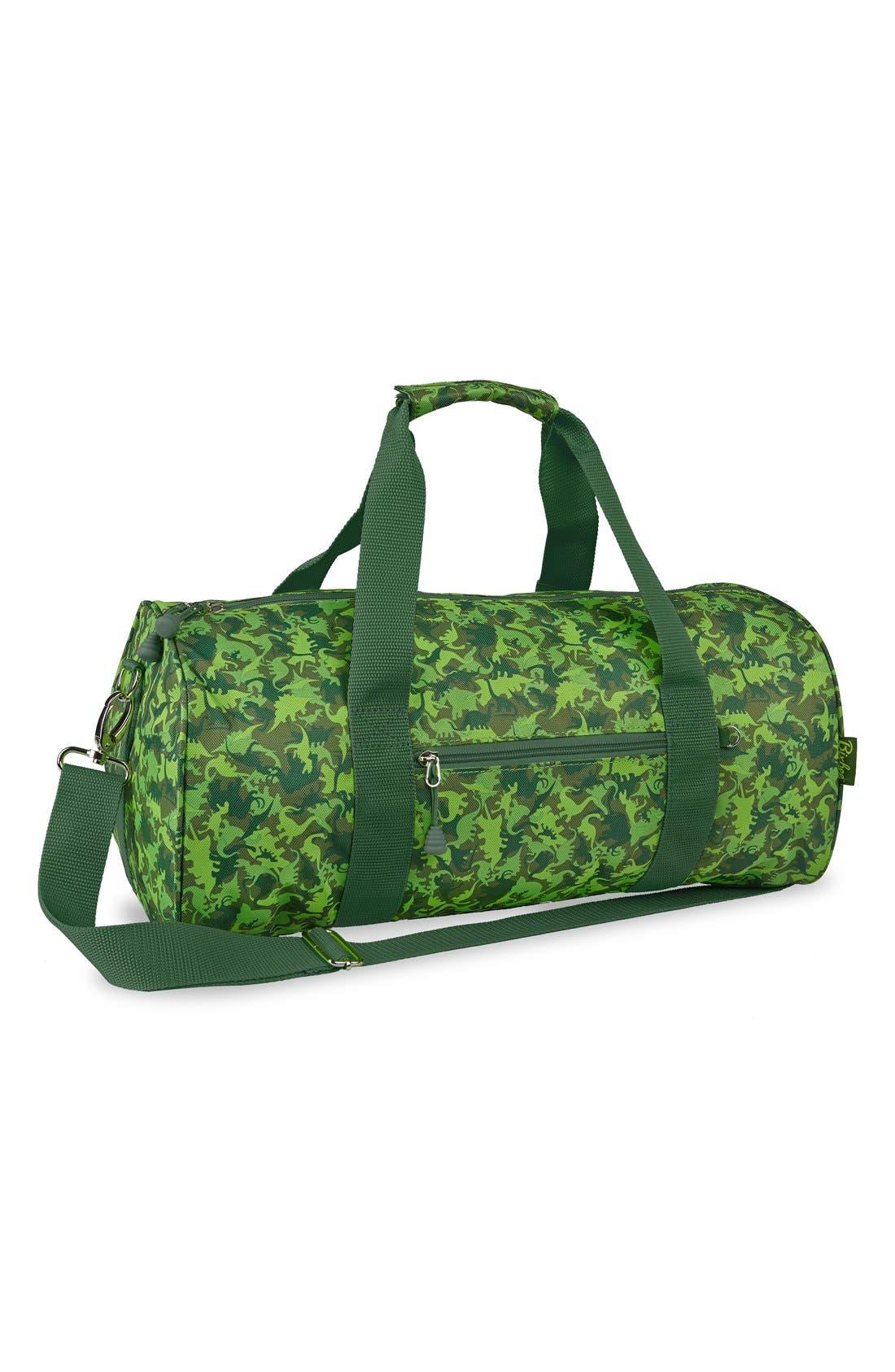 'Large Dino Camo' Sports Duffel Bag,                             Main thumbnail 1, color,                             300