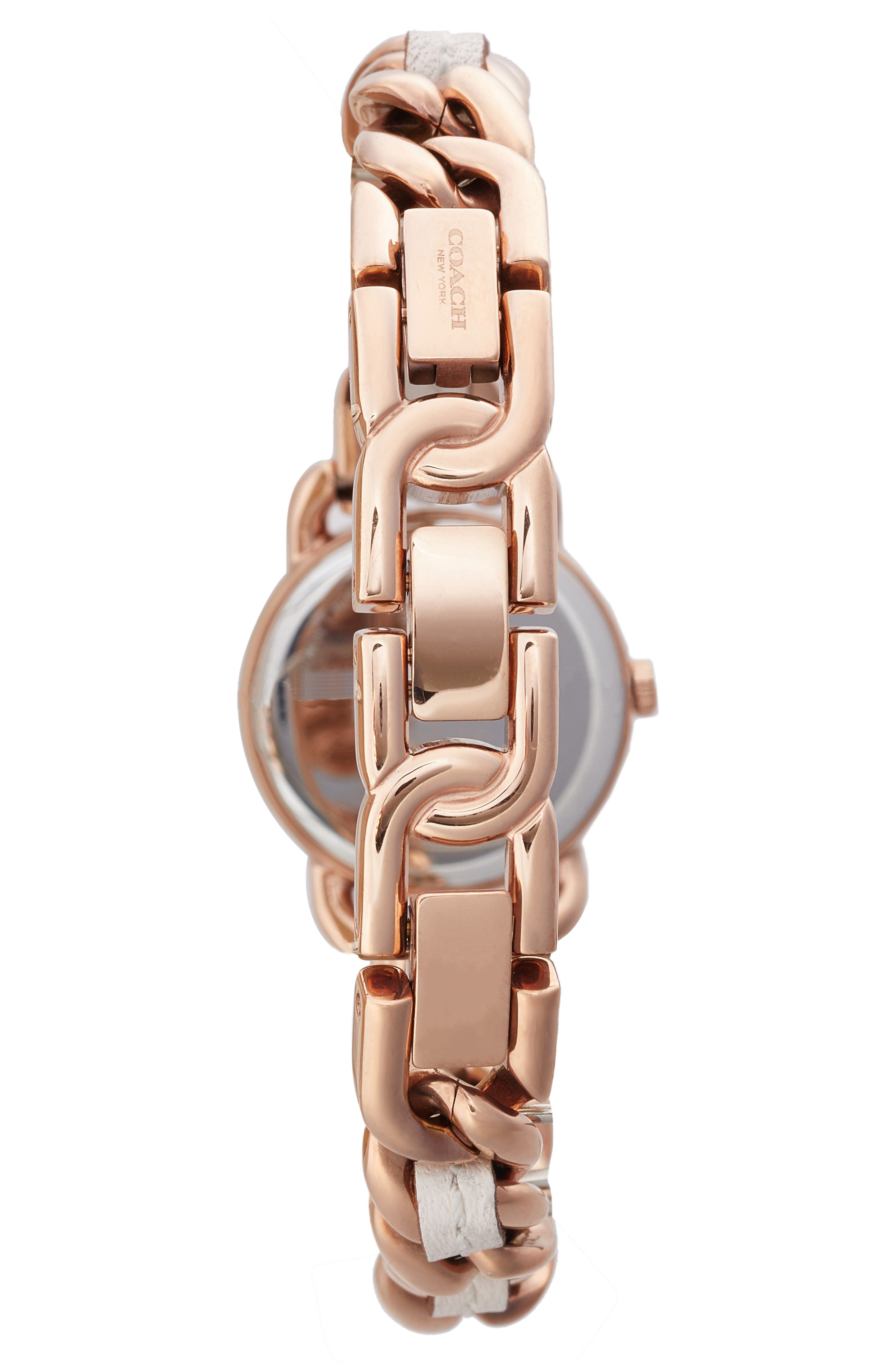 Delancey Leather Chain Watch, 23mm,                             Alternate thumbnail 6, color,