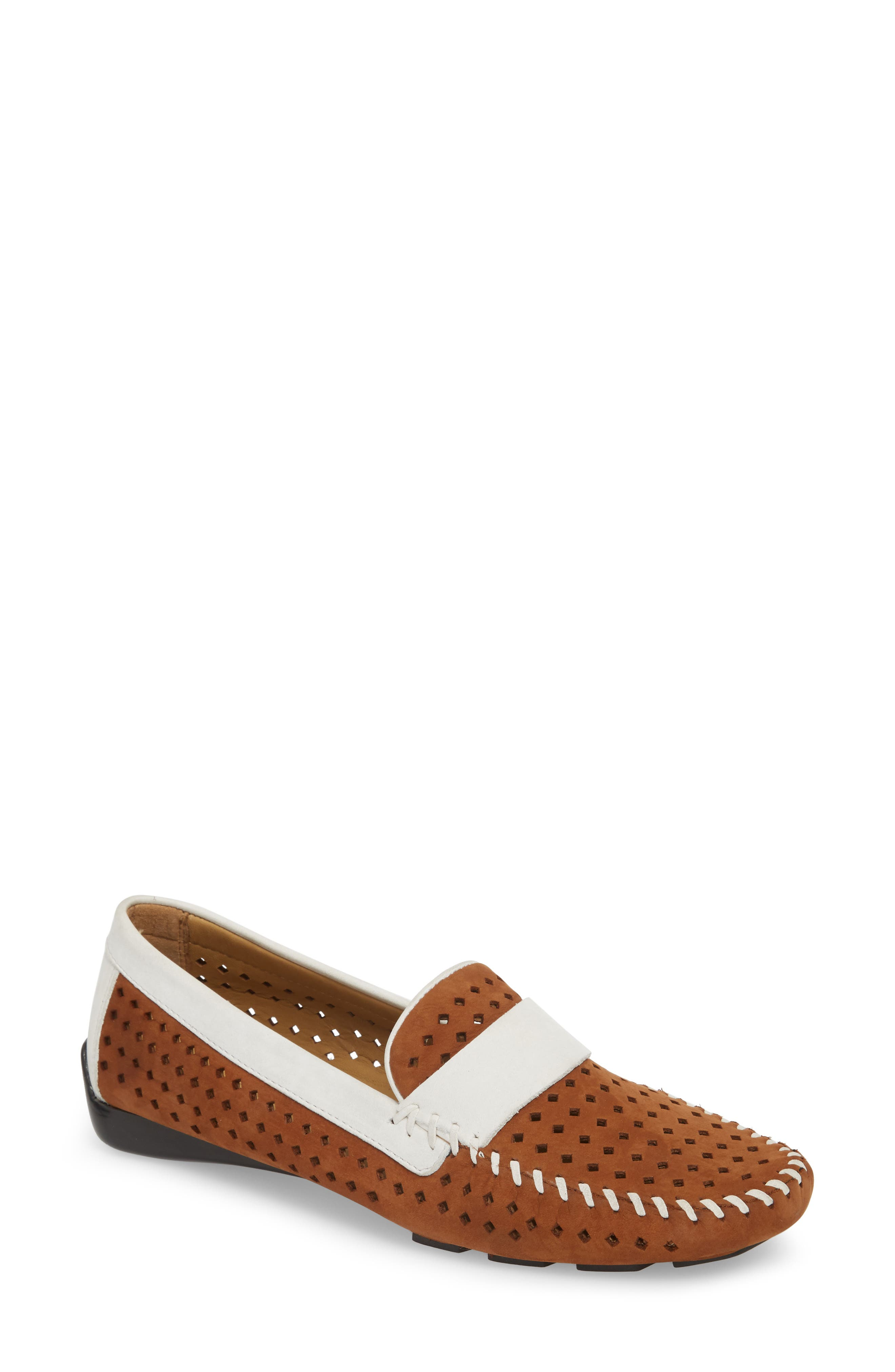Pace Loafer,                             Main thumbnail 1, color,                             TAN/ WHITE NUBUCK