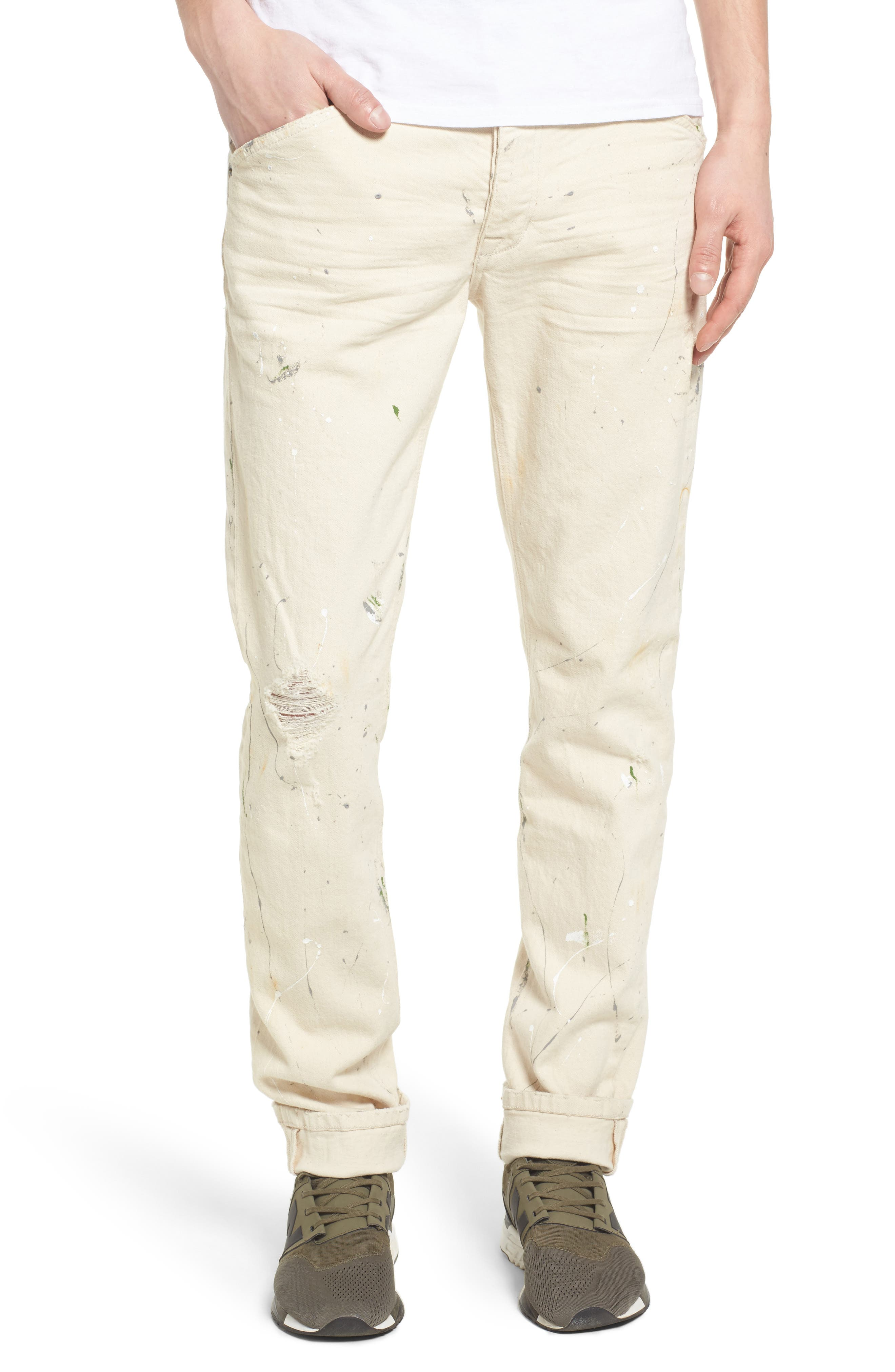 Standard Slouchy Slim Fit Jeans,                         Main,                         color, 110