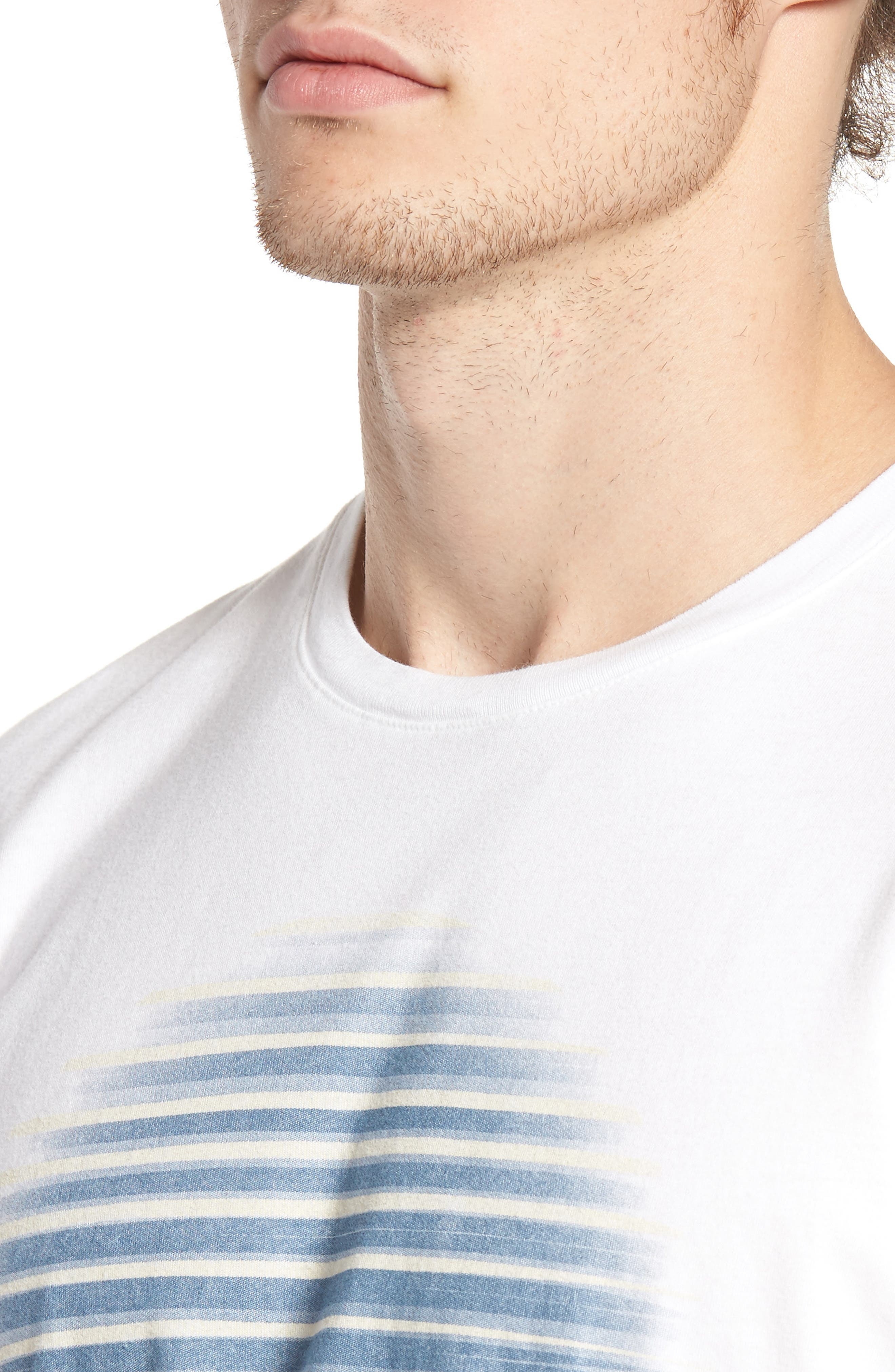 Lined Circle Graphic T-Shirt,                             Alternate thumbnail 4, color,                             100