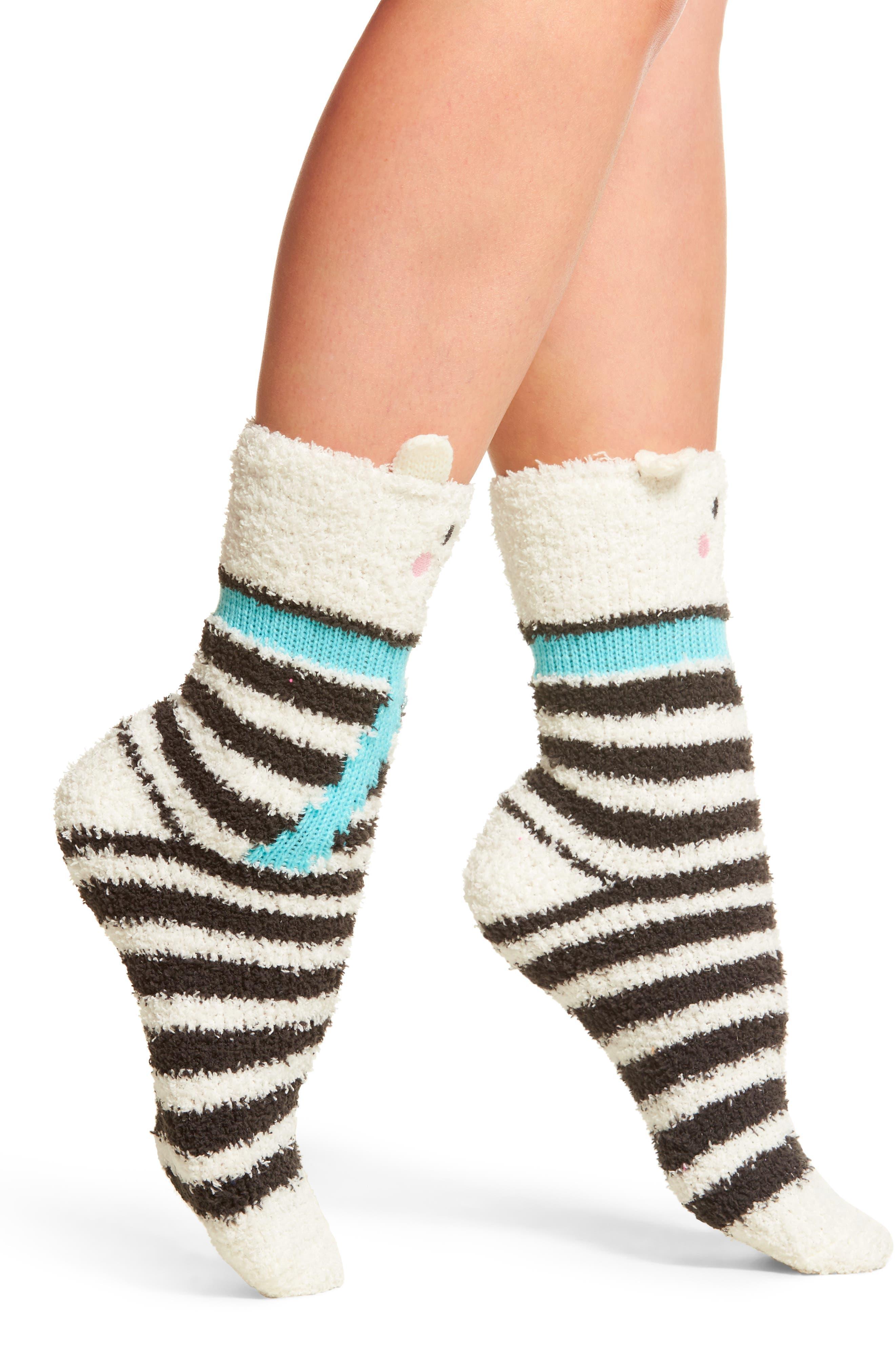 Stripe Plush Socks,                         Main,                         color, 020